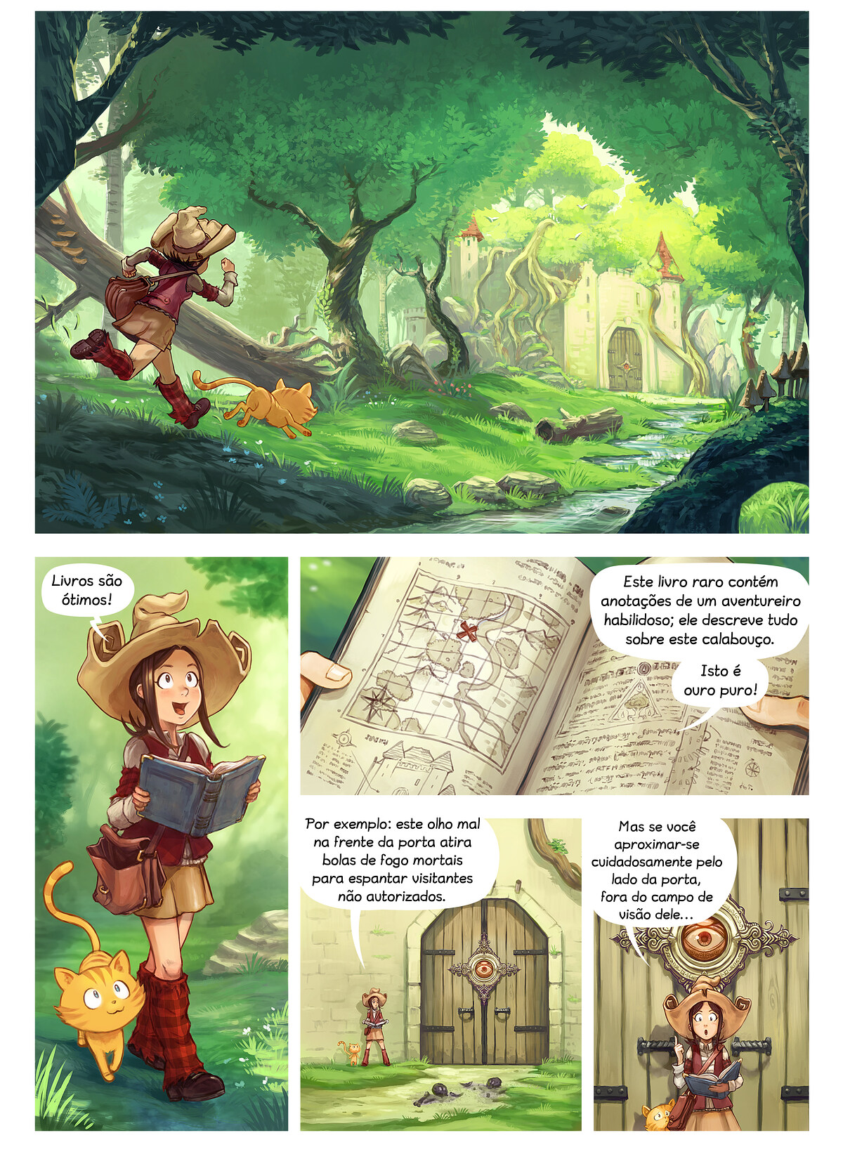 A webcomic page of Pepper&Carrot, episódio 26 [pt], página 1