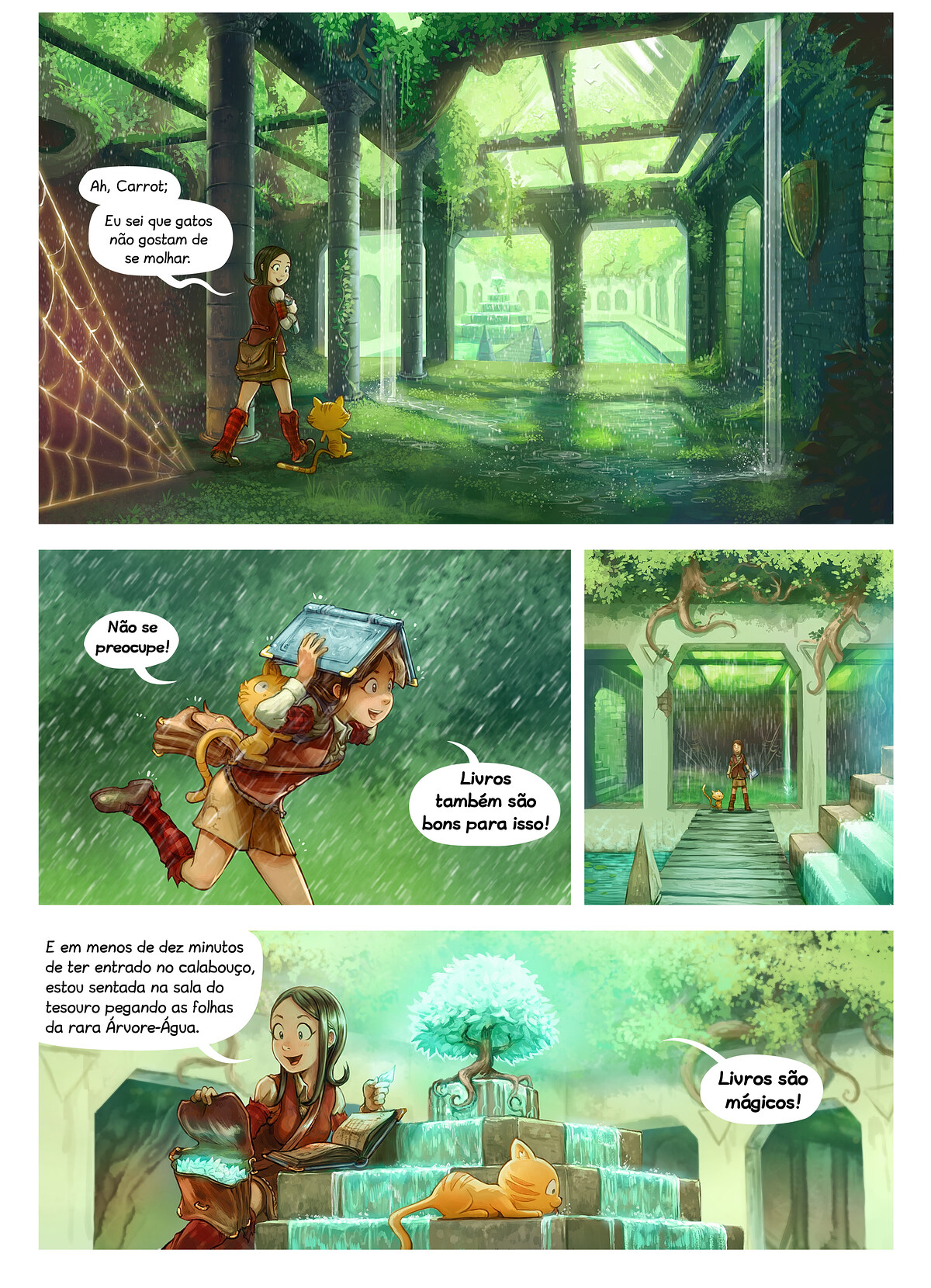 A webcomic page of Pepper&Carrot, episódio 26 [pt], página 3