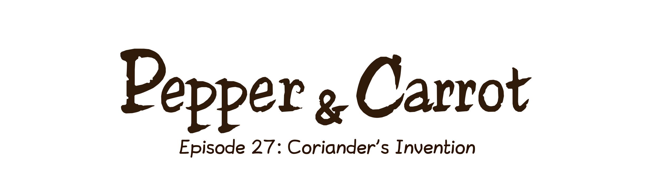 Episode 27: Coriander's Invention