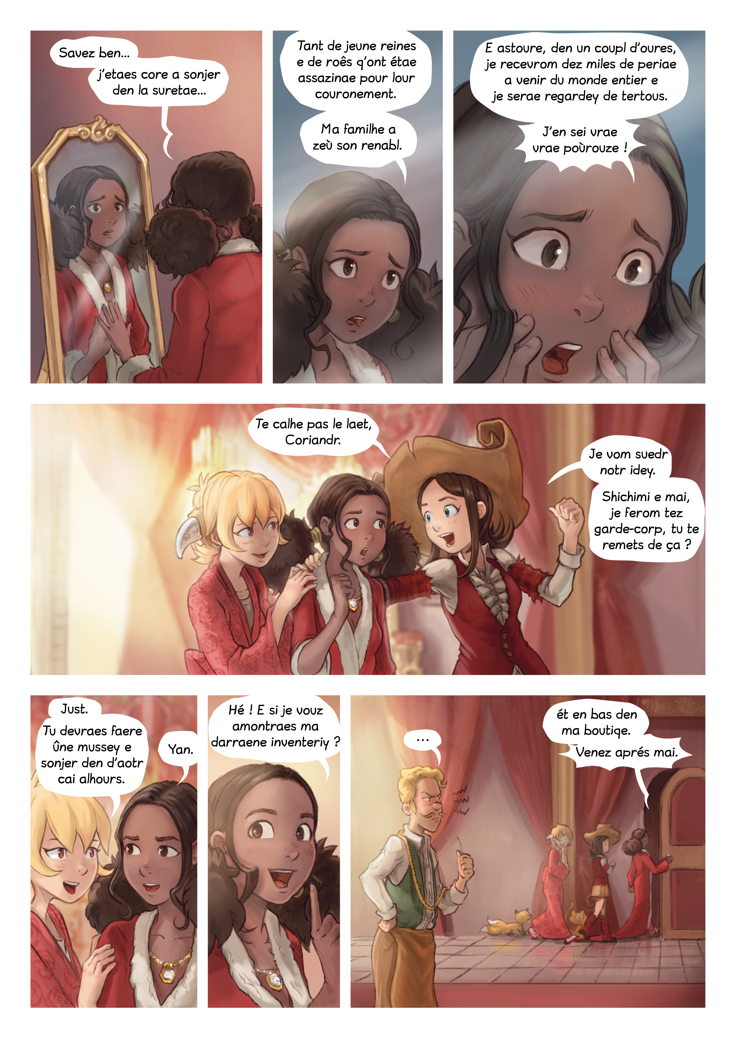 A webcomic page of Pepper&Carrot, episode 27 [go], page 2
