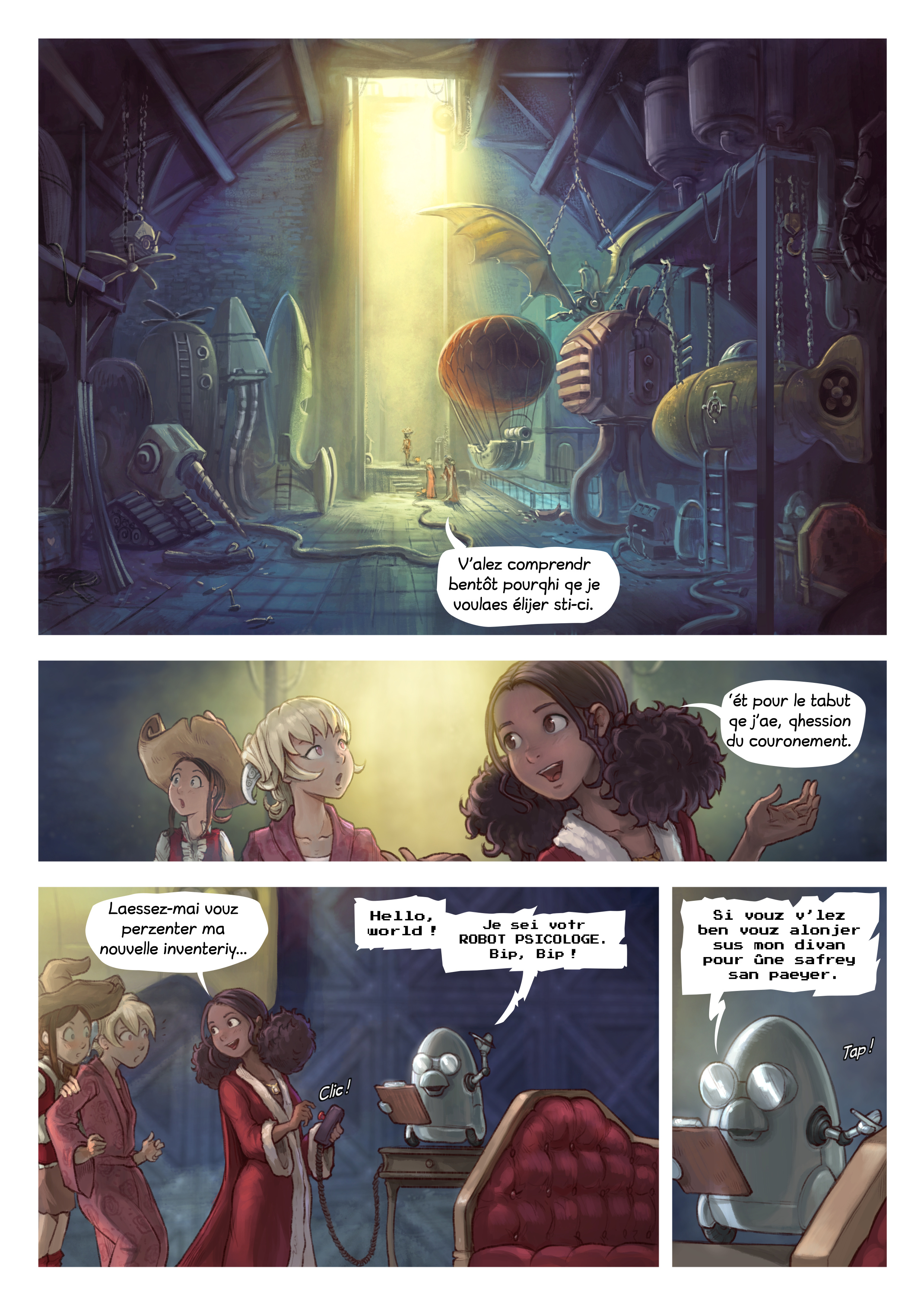 A webcomic page of Pepper&Carrot, episode 27 [go], page 3