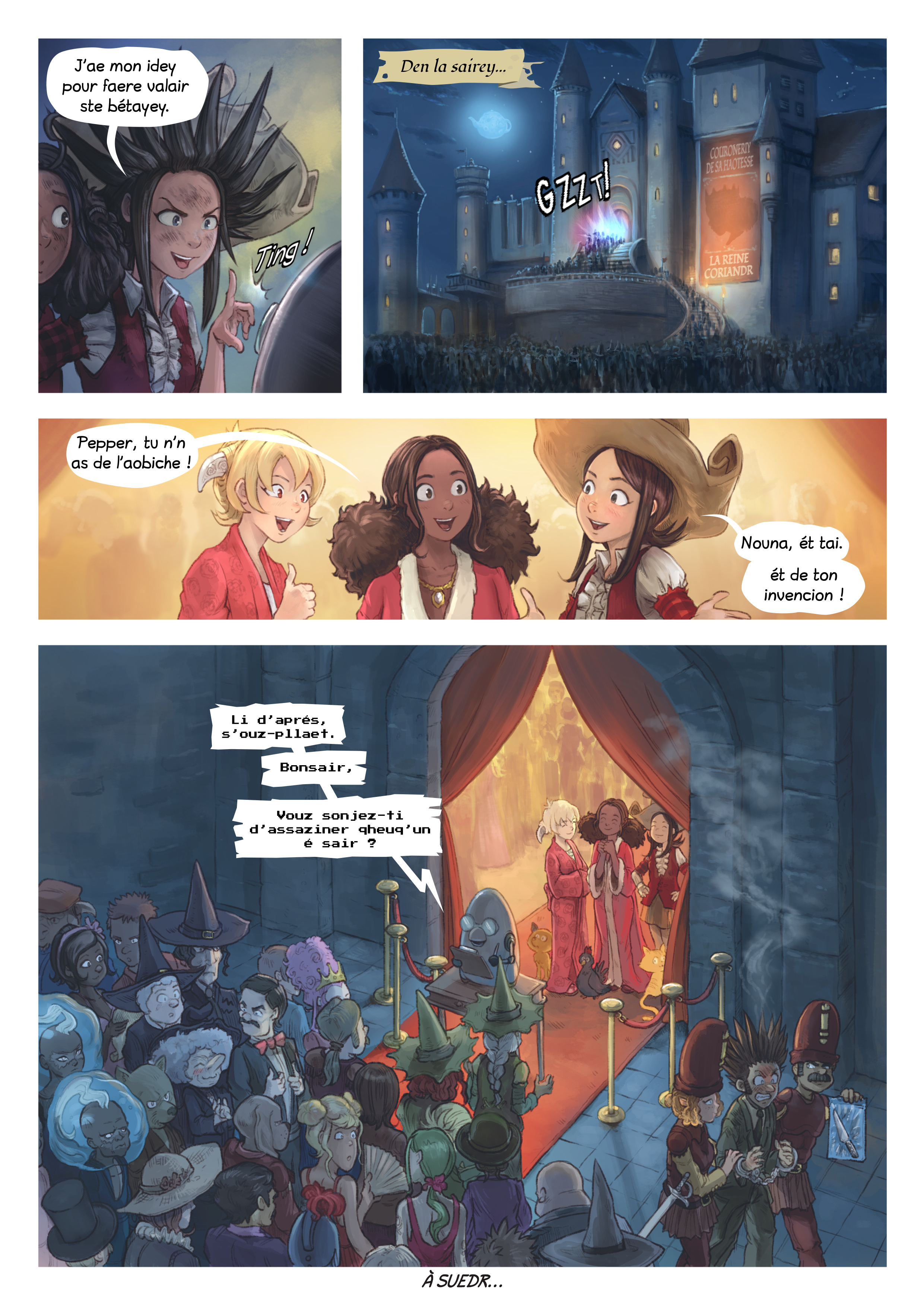 A webcomic page of Pepper&Carrot, episode 27 [go], page 6