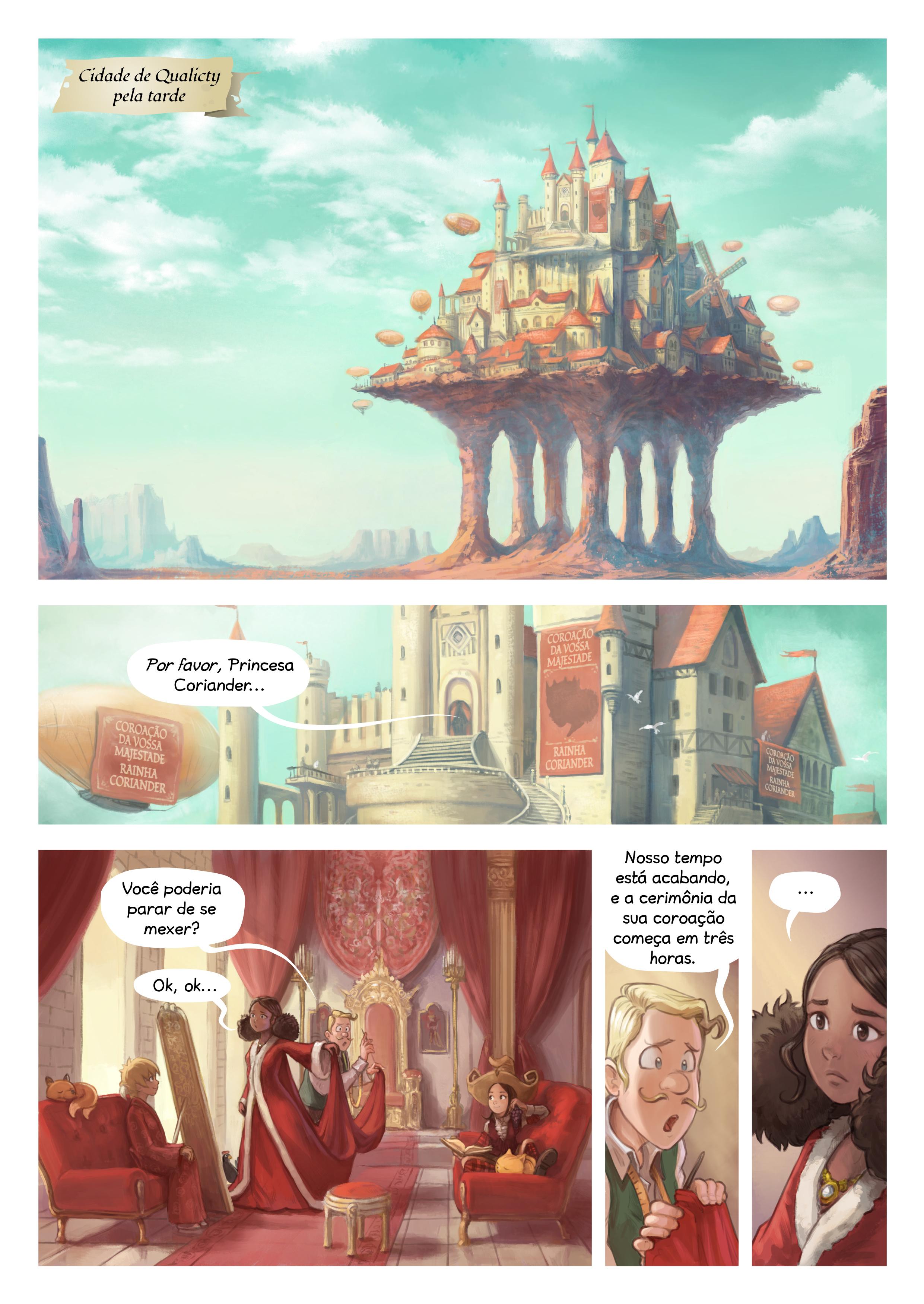 A webcomic page of Pepper&Carrot, episódio 27 [pt], página 1