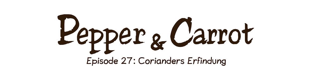 A webcomic page of Pepper&Carrot, Episode 27 [de], Seite 0