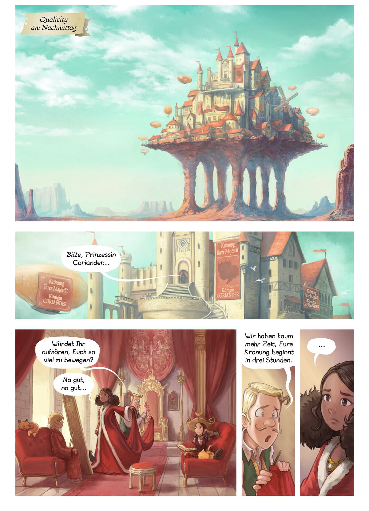 A webcomic page of Pepper&Carrot, Episode 27 [de], Seite 1