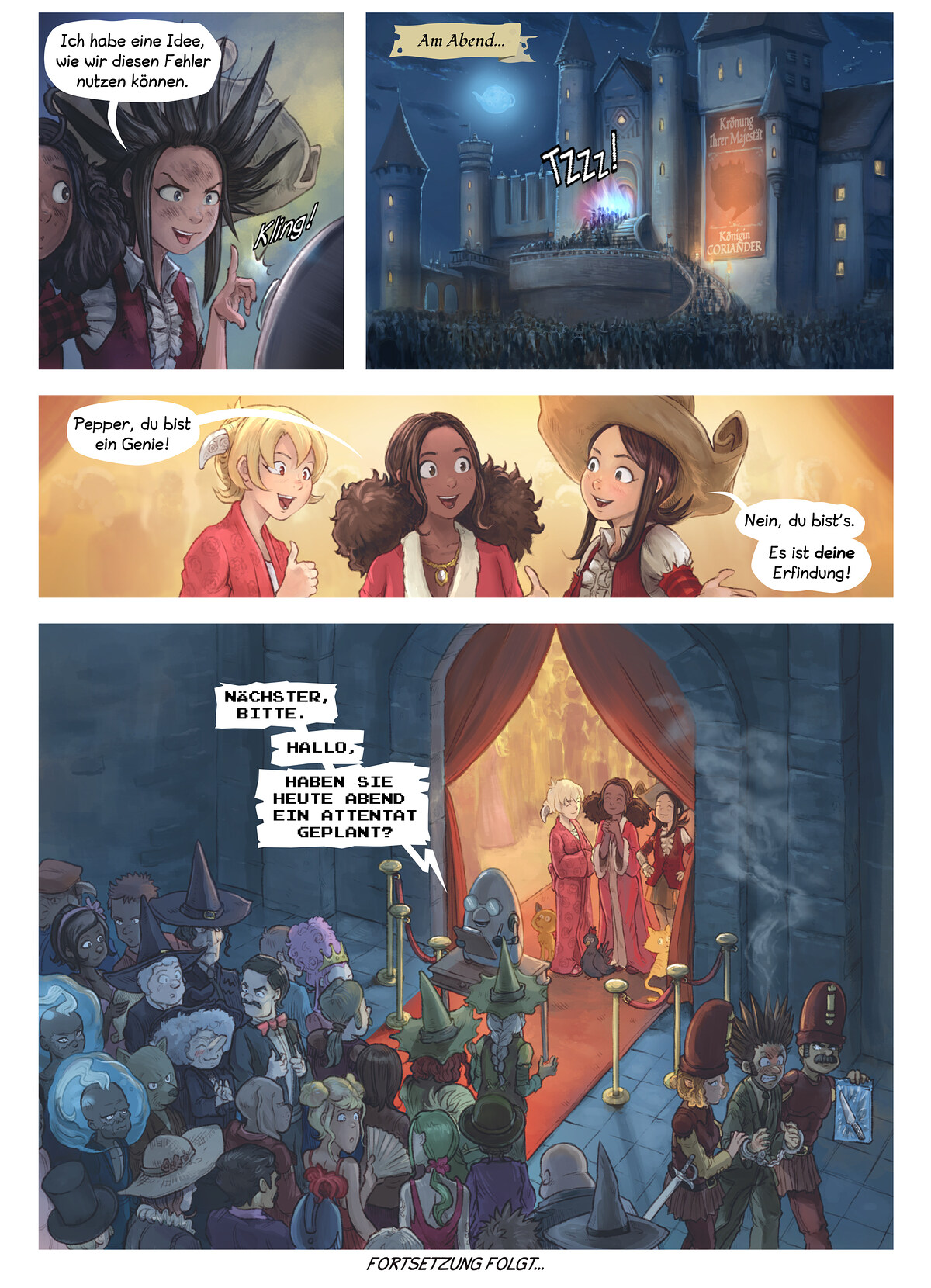 A webcomic page of Pepper&Carrot, Episode 27 [de], Seite 6