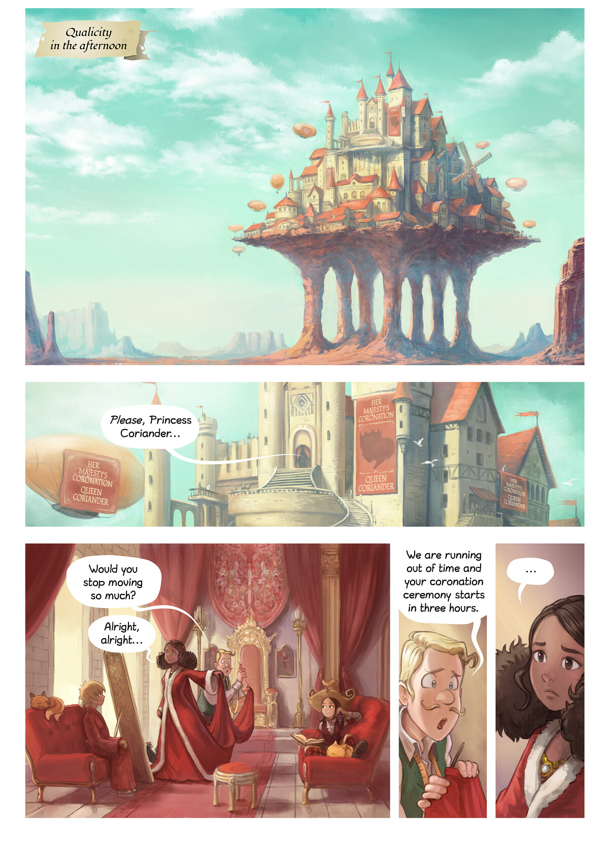 A webcomic page of Pepper&Carrot, rann 27 [br], pajenn 1