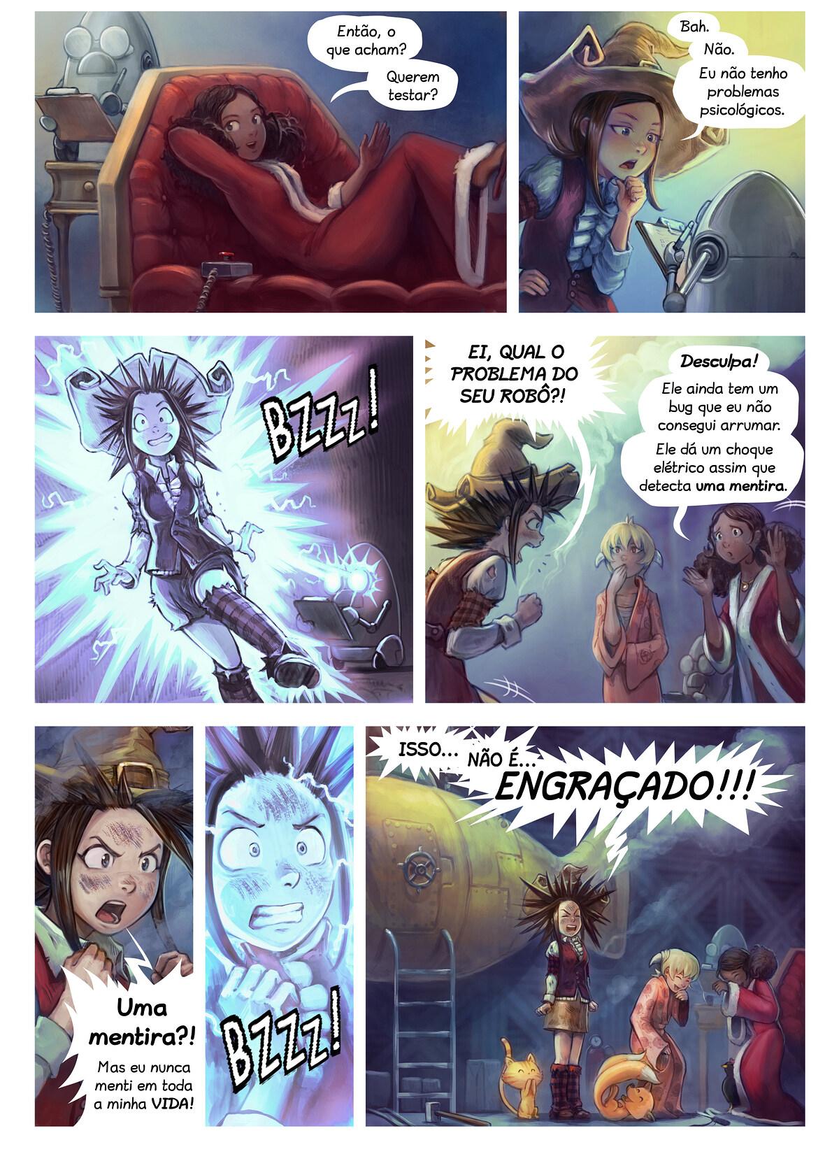 A webcomic page of Pepper&Carrot, episódio 27 [pt], página 4
