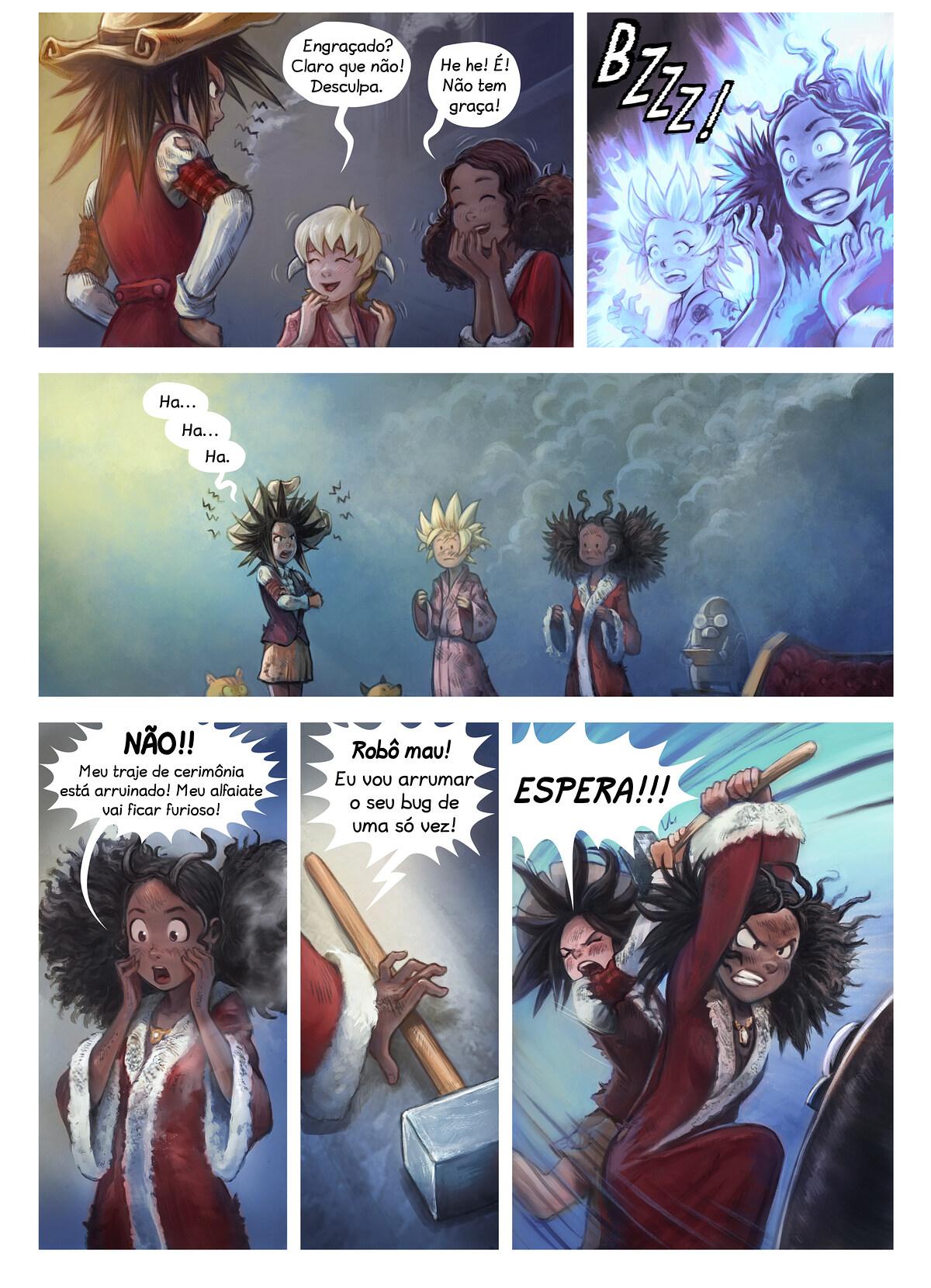 A webcomic page of Pepper&Carrot, episódio 27 [pt], página 5