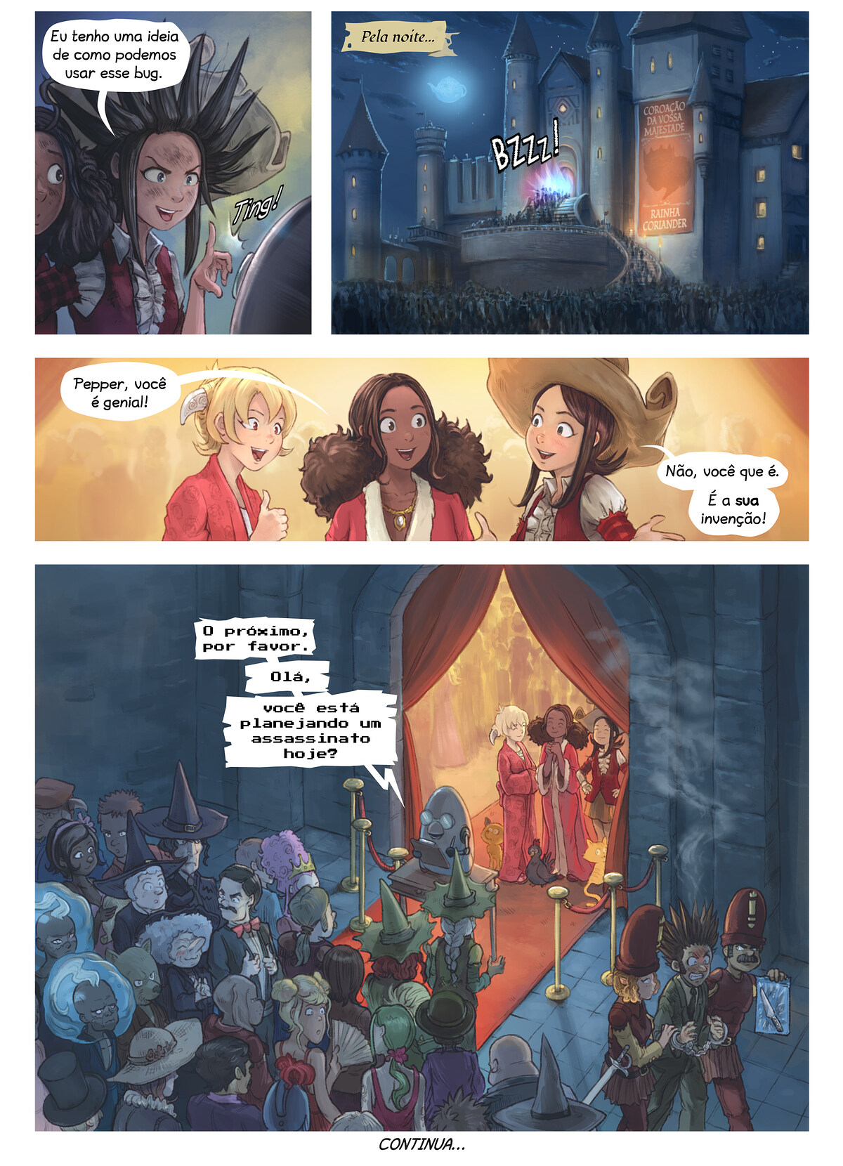 A webcomic page of Pepper&Carrot, episódio 27 [pt], página 6
