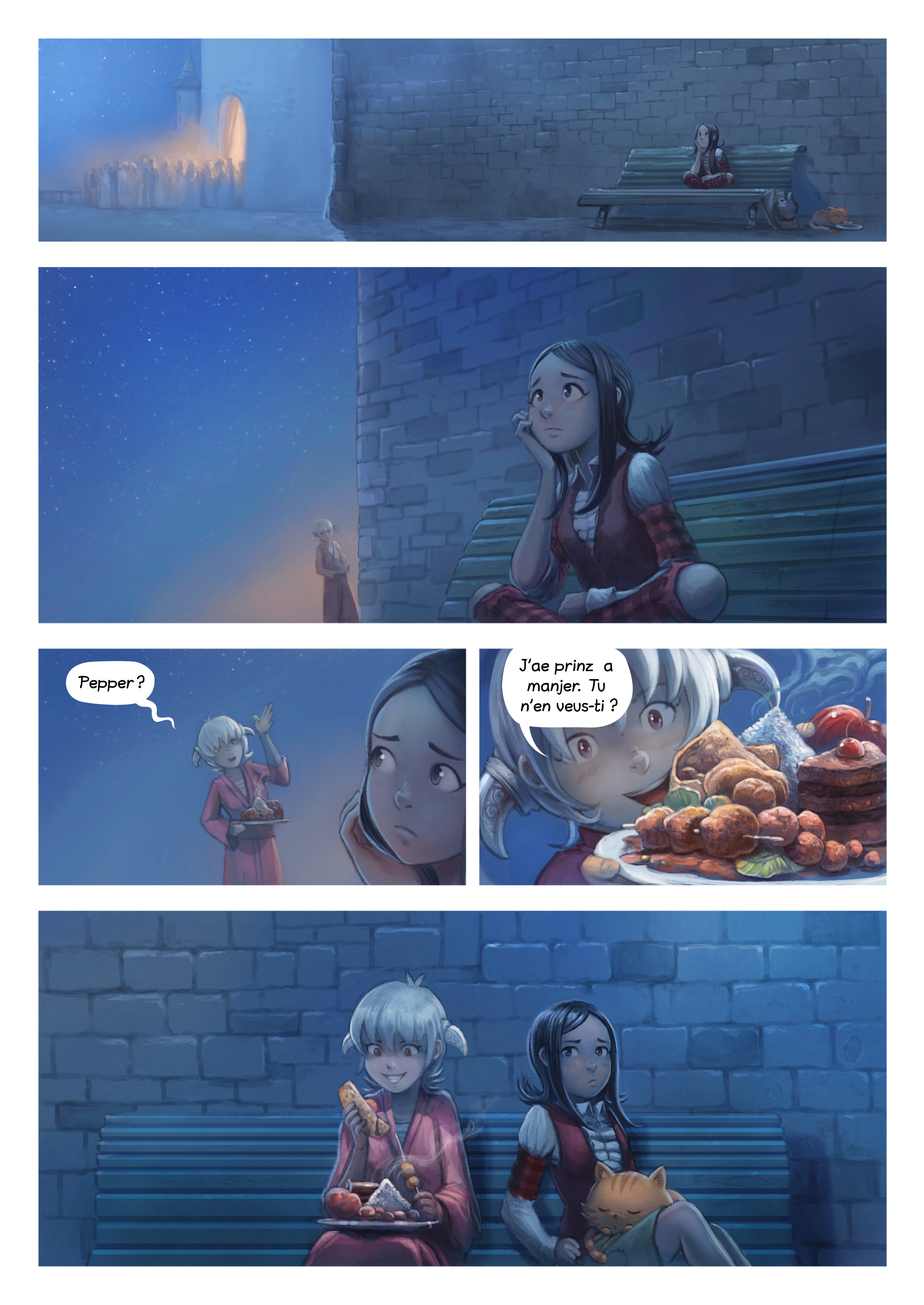 A webcomic page of Pepper&Carrot, episode 28 [go], page 6