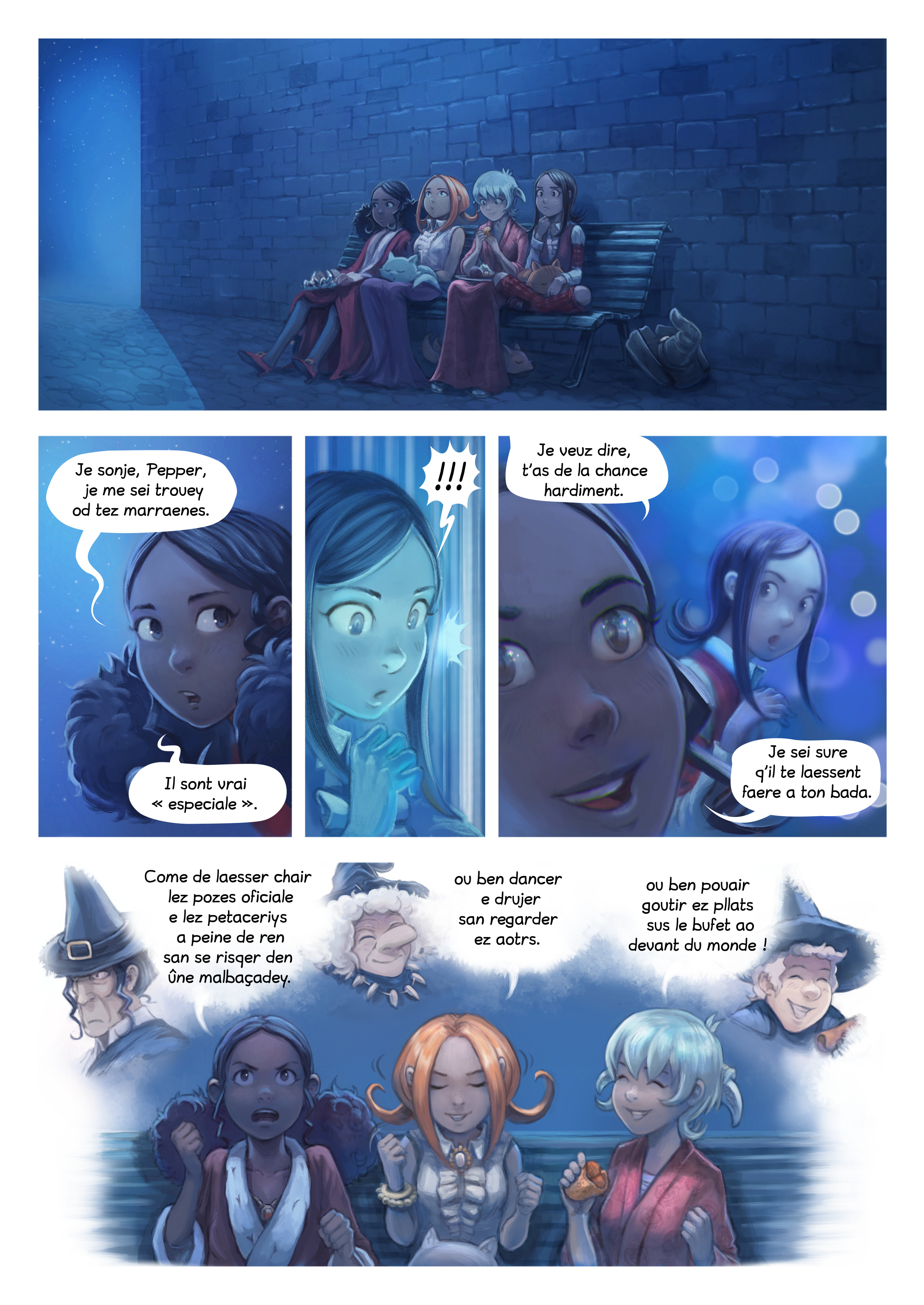 A webcomic page of Pepper&Carrot, episode 28 [go], page 8