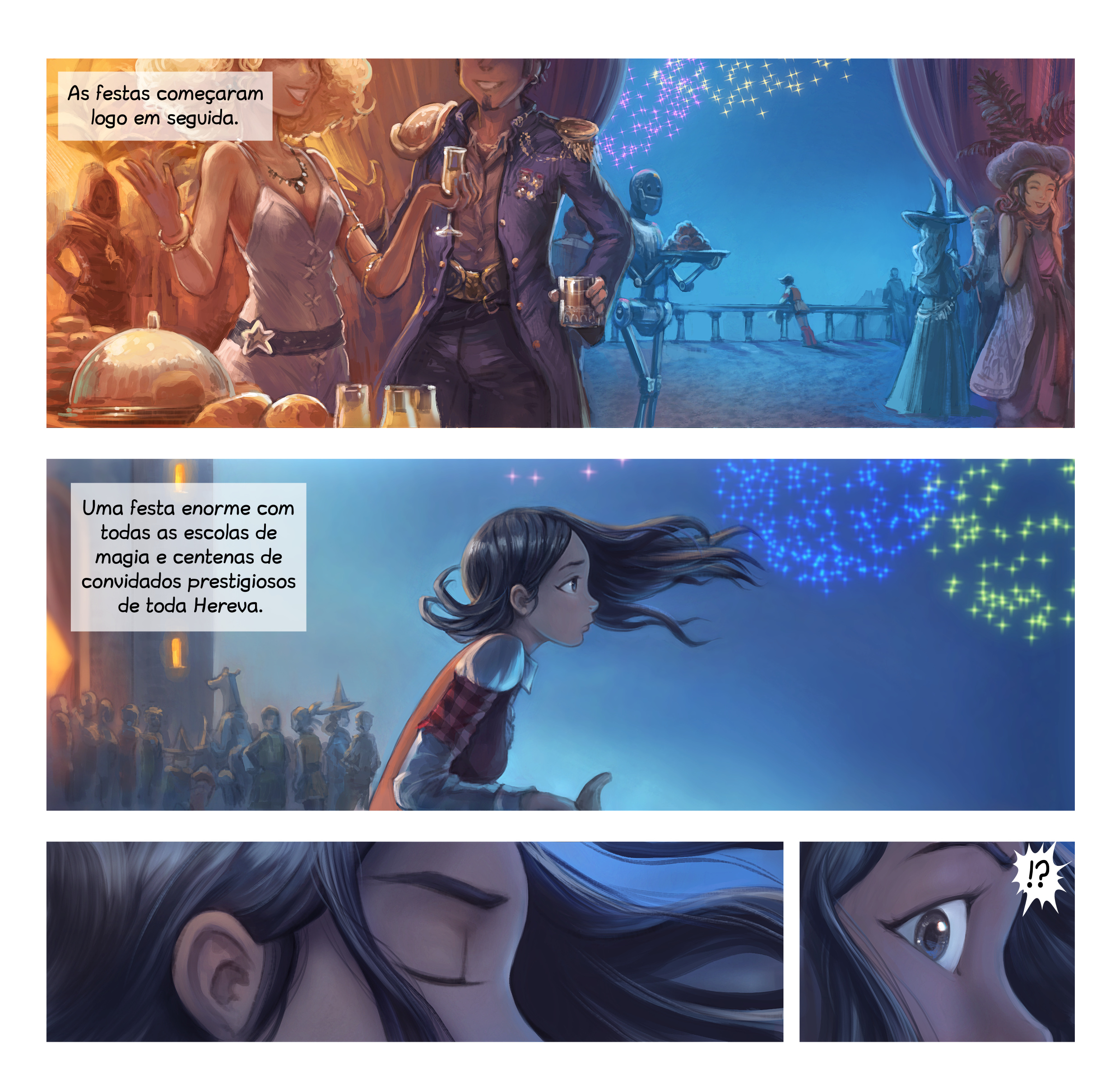 A webcomic page of Pepper&Carrot, episódio 28 [pt], página 3