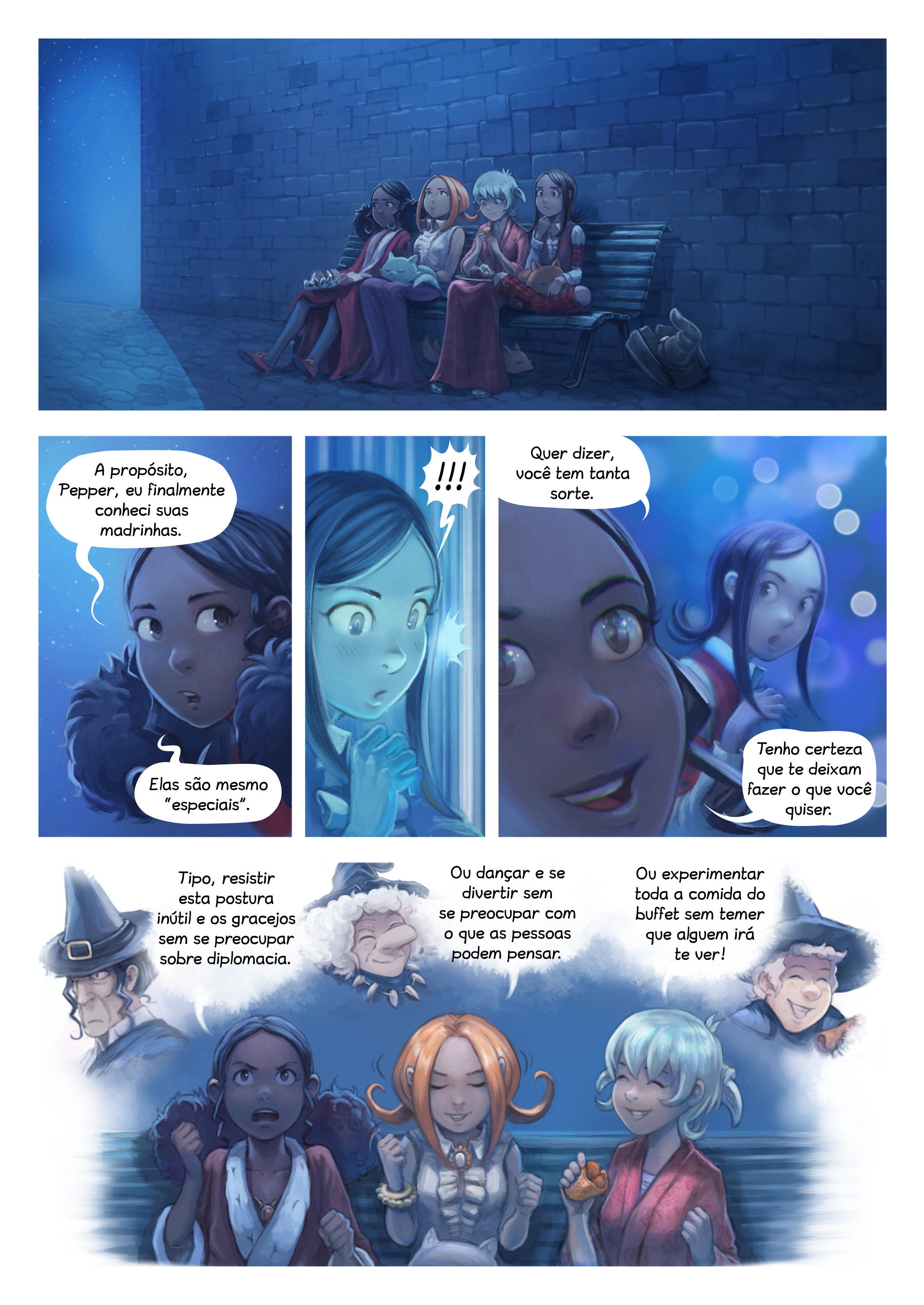 A webcomic page of Pepper&Carrot, episódio 28 [pt], página 8