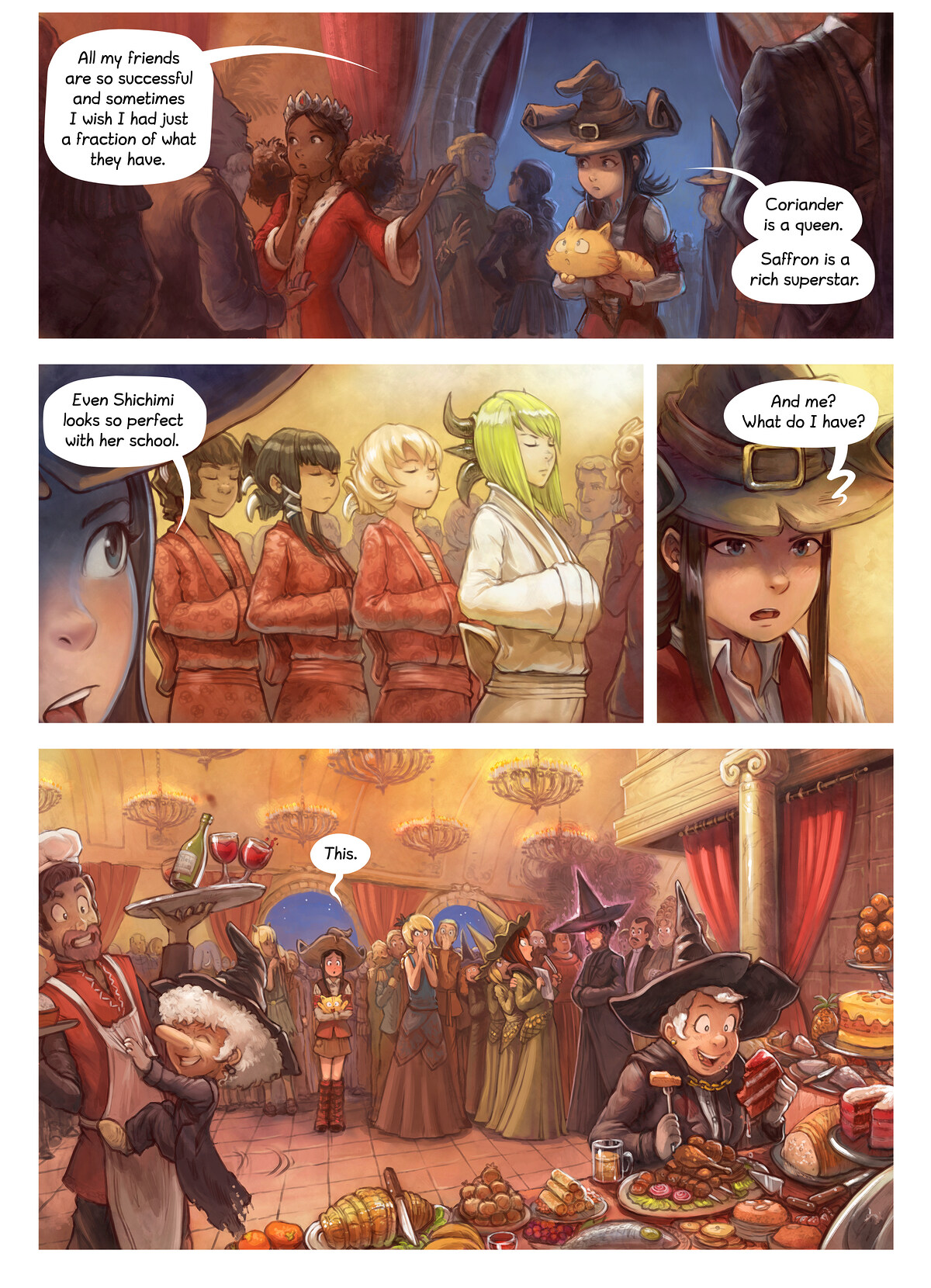 A webcomic page of Pepper&Carrot, tajla 28 [sz], strōna 5