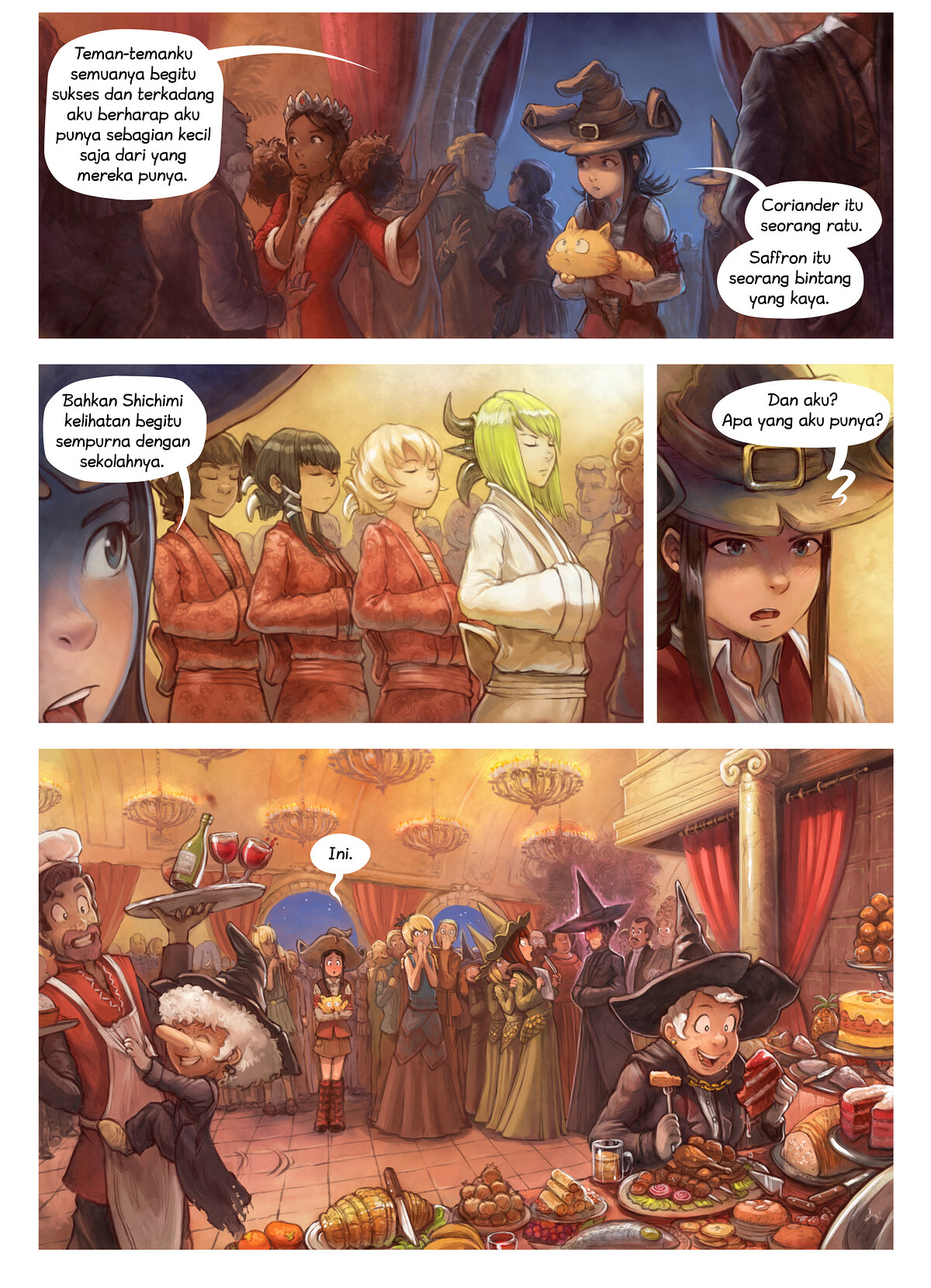 A webcomic page of Pepper&Carrot, episode 28 [id], halaman 5