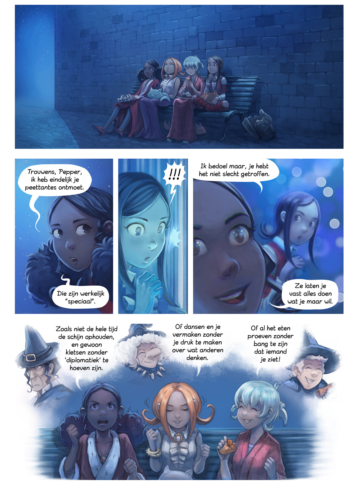 A webcomic page of Pepper&Carrot, aflevering 28 [nl], pagina 8