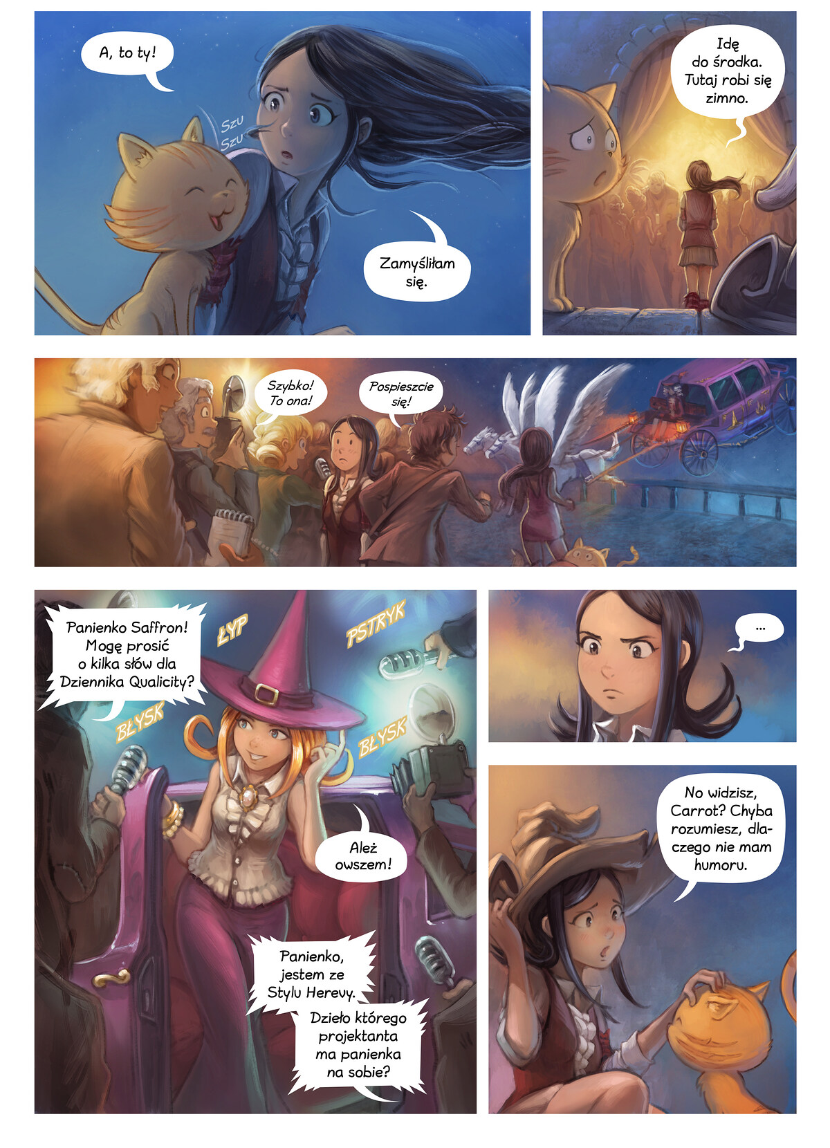A webcomic page of Pepper&Carrot, odcinek 28 [pl], strona 4