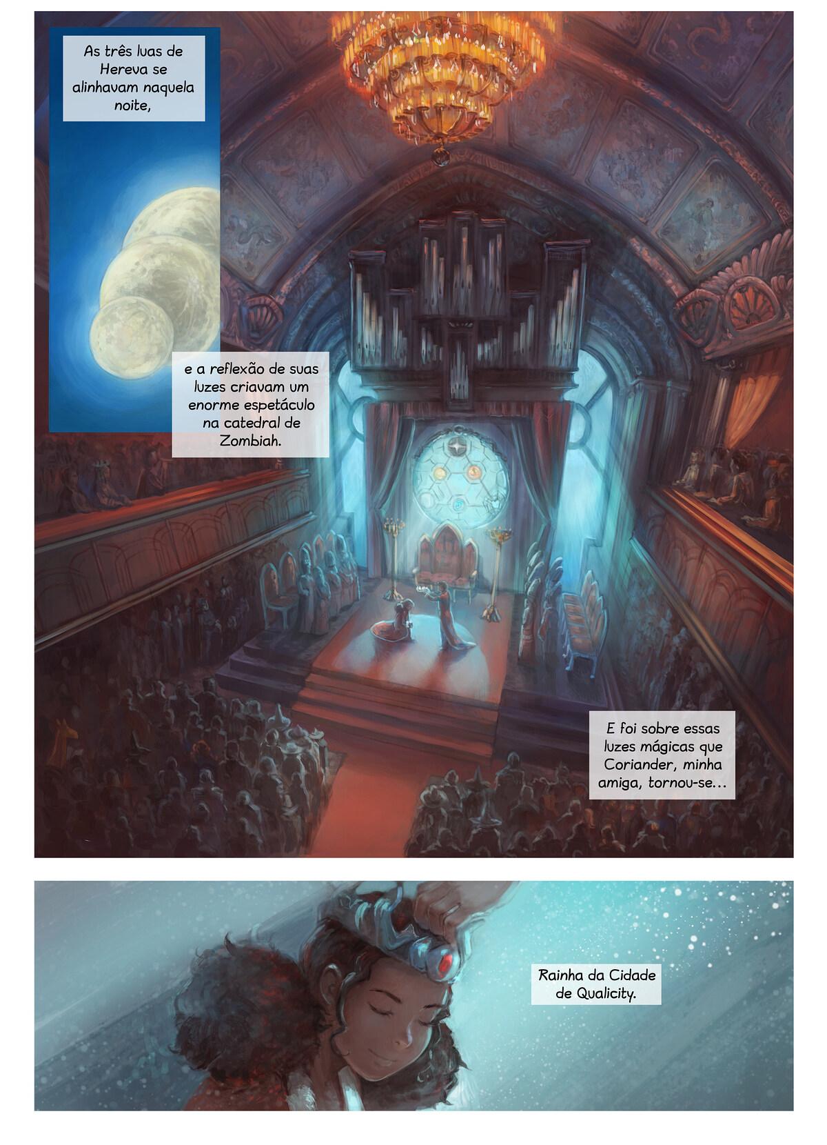 A webcomic page of Pepper&Carrot, episódio 28 [pt], página 1