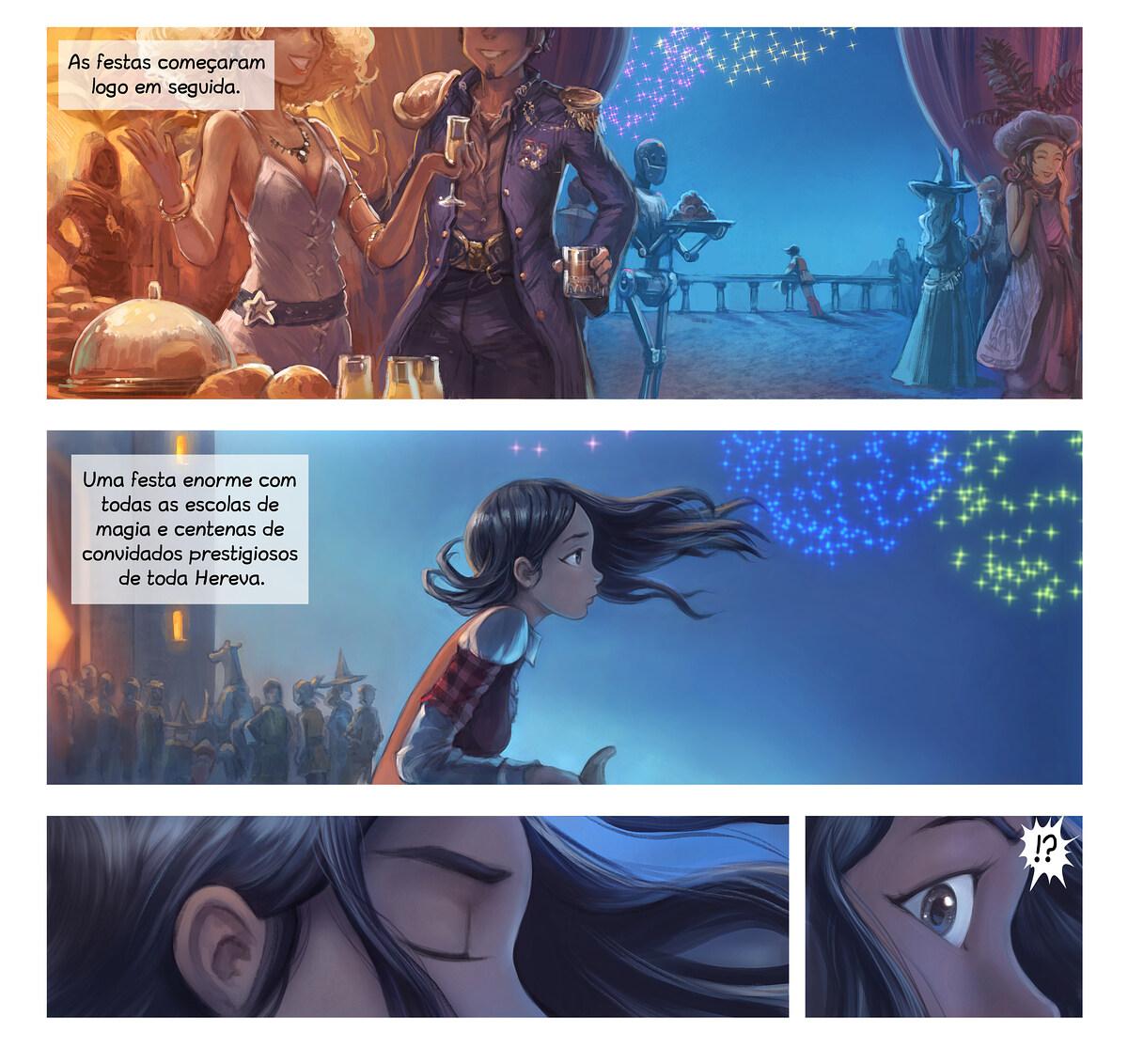 A webcomic page of Pepper&Carrot, episódio 28 [pt], página 3
