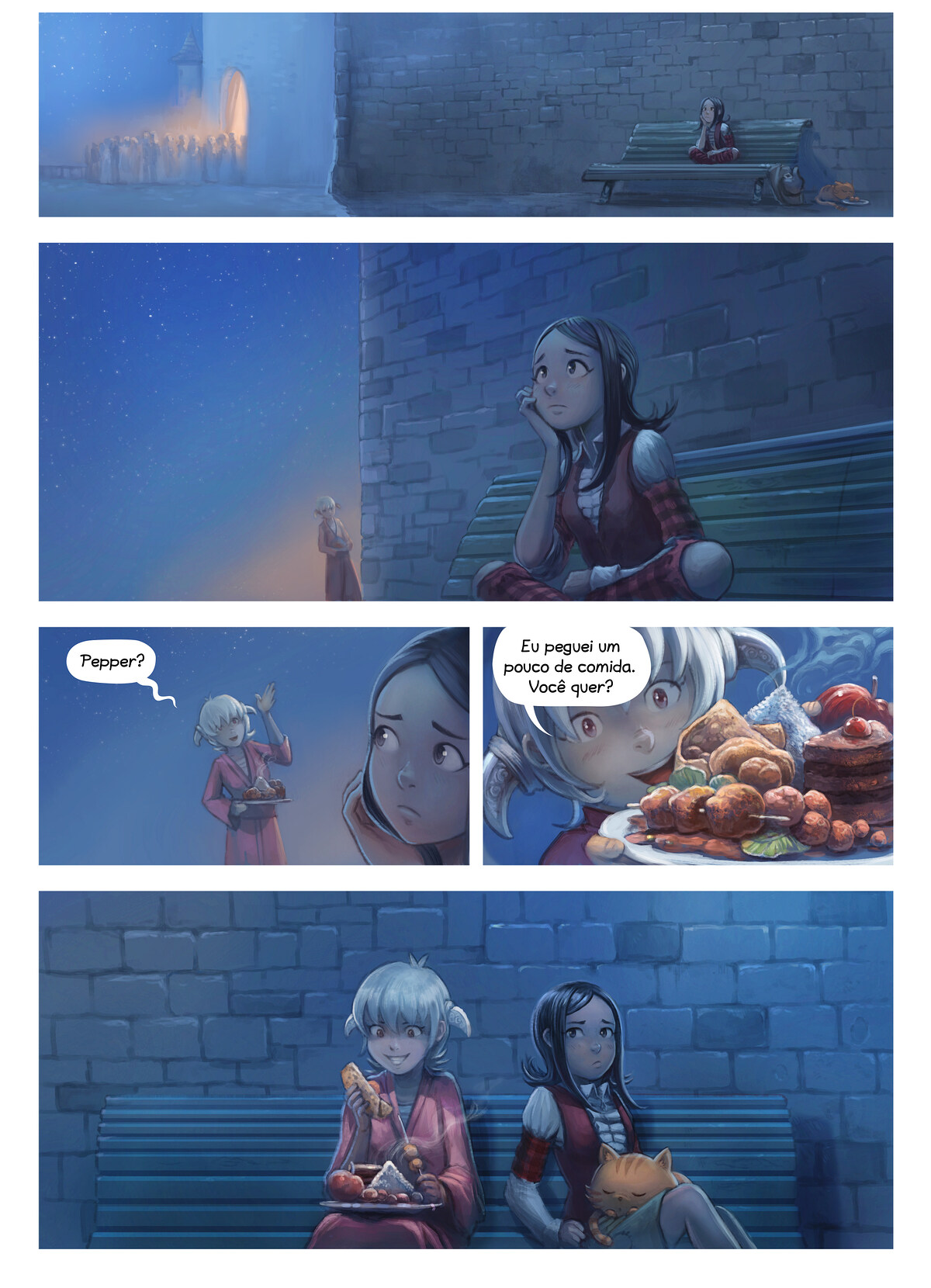 A webcomic page of Pepper&Carrot, episódio 28 [pt], página 6