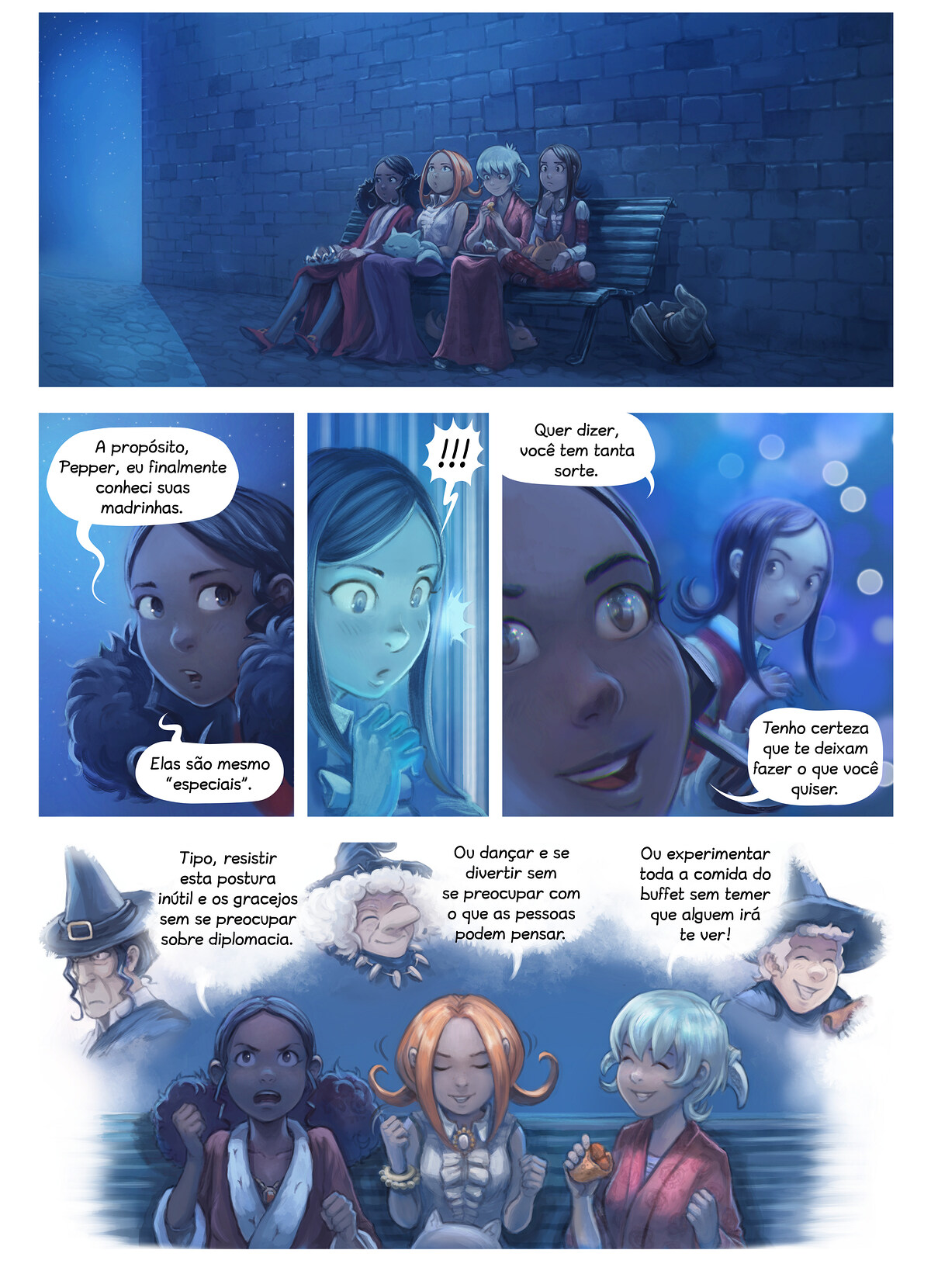 A webcomic page of Pepper&Carrot, episódio 28 [pt], página 8