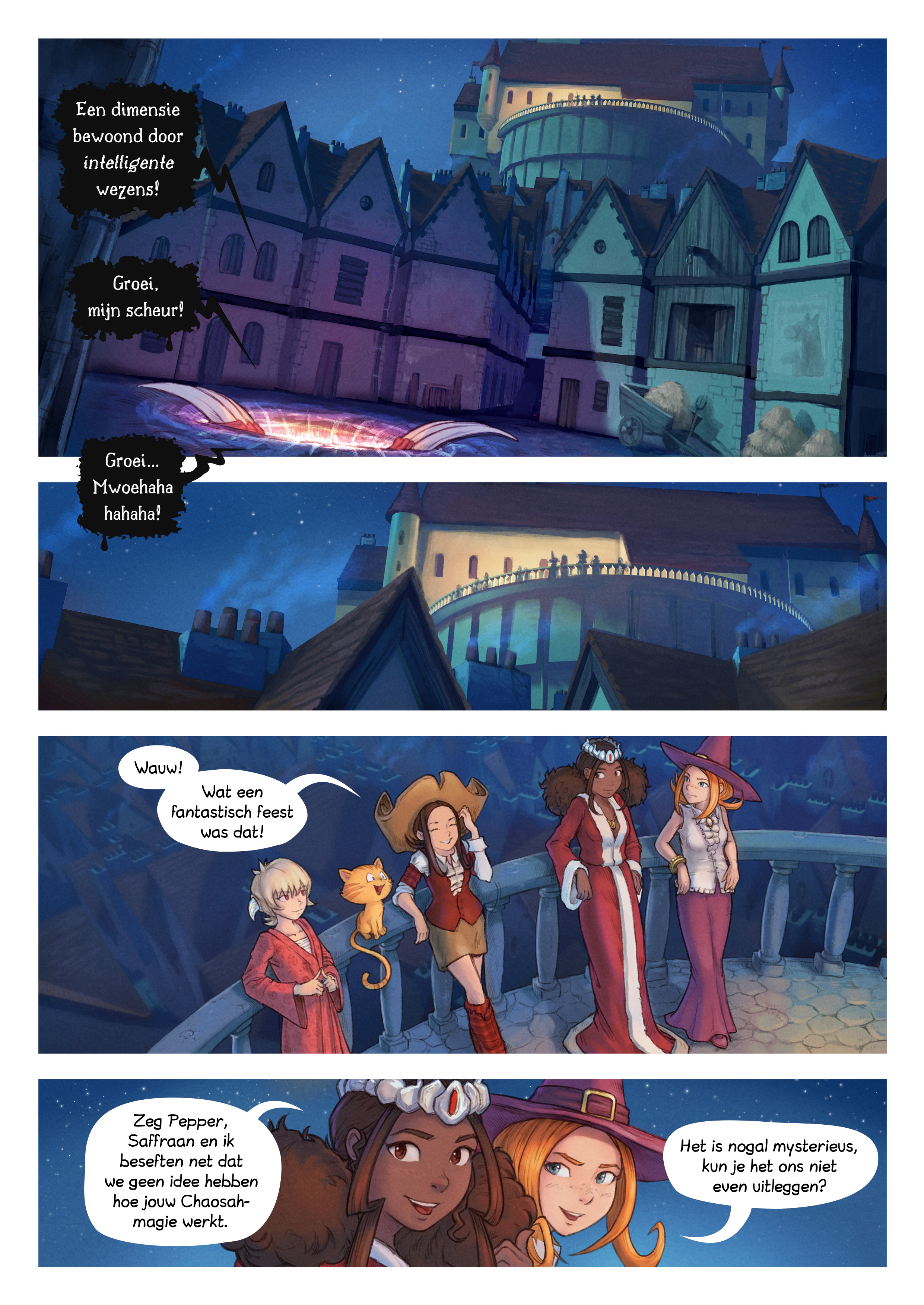 A webcomic page of Pepper&Carrot, aflevering 29 [nl], pagina 2