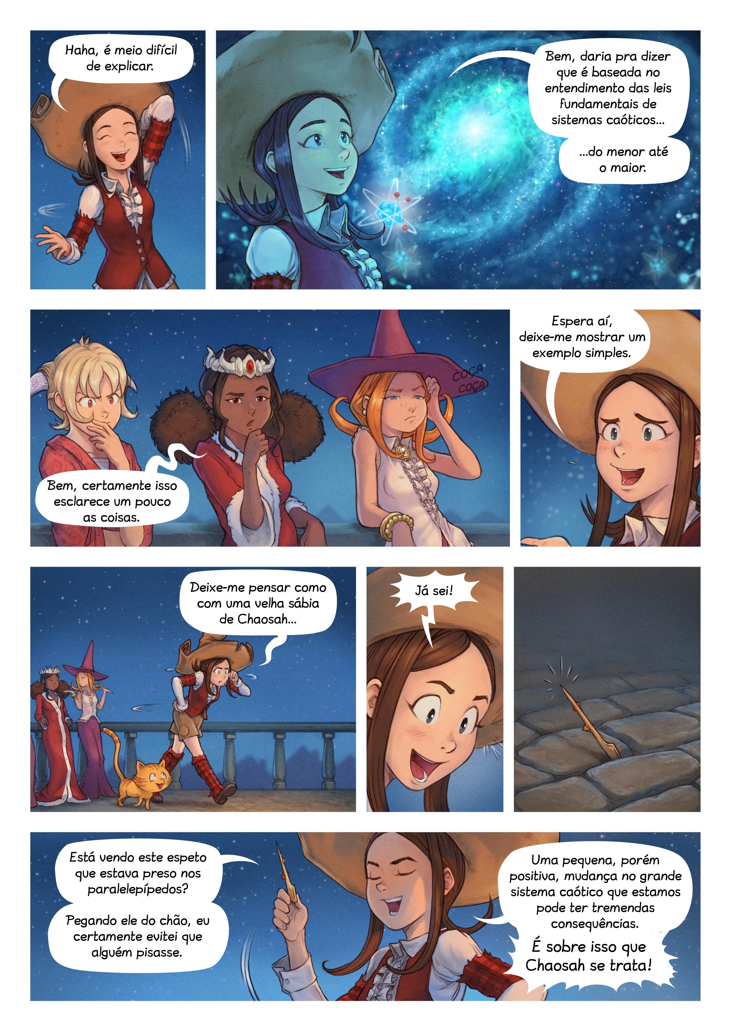 A webcomic page of Pepper&Carrot, episódio 29 [pt], página 3