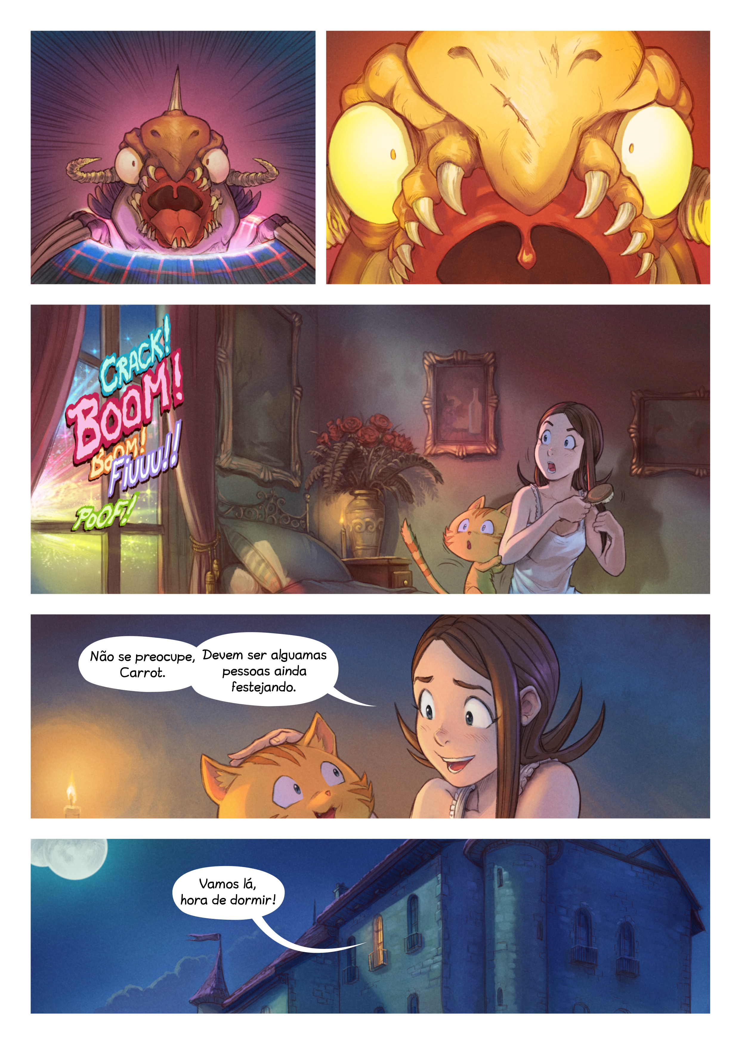 A webcomic page of Pepper&Carrot, episódio 29 [pt], página 7