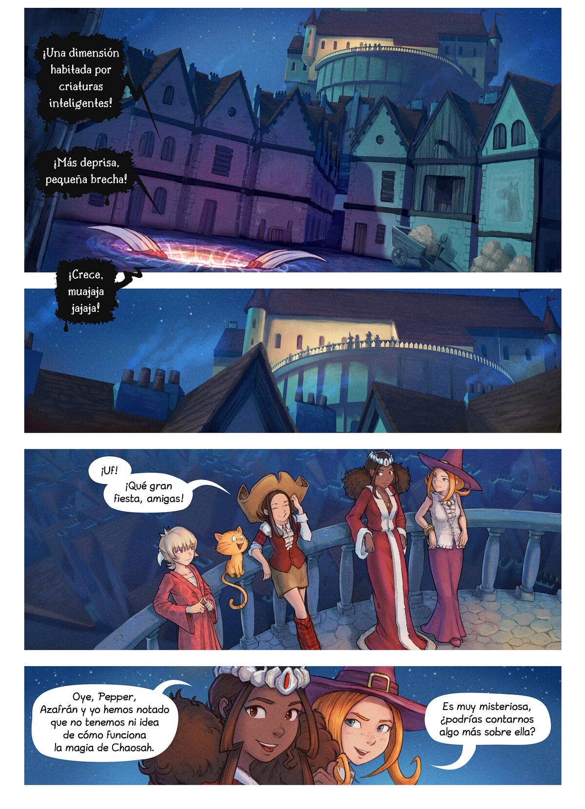 A webcomic page of Pepper&Carrot, episodio 29 [es], página 2