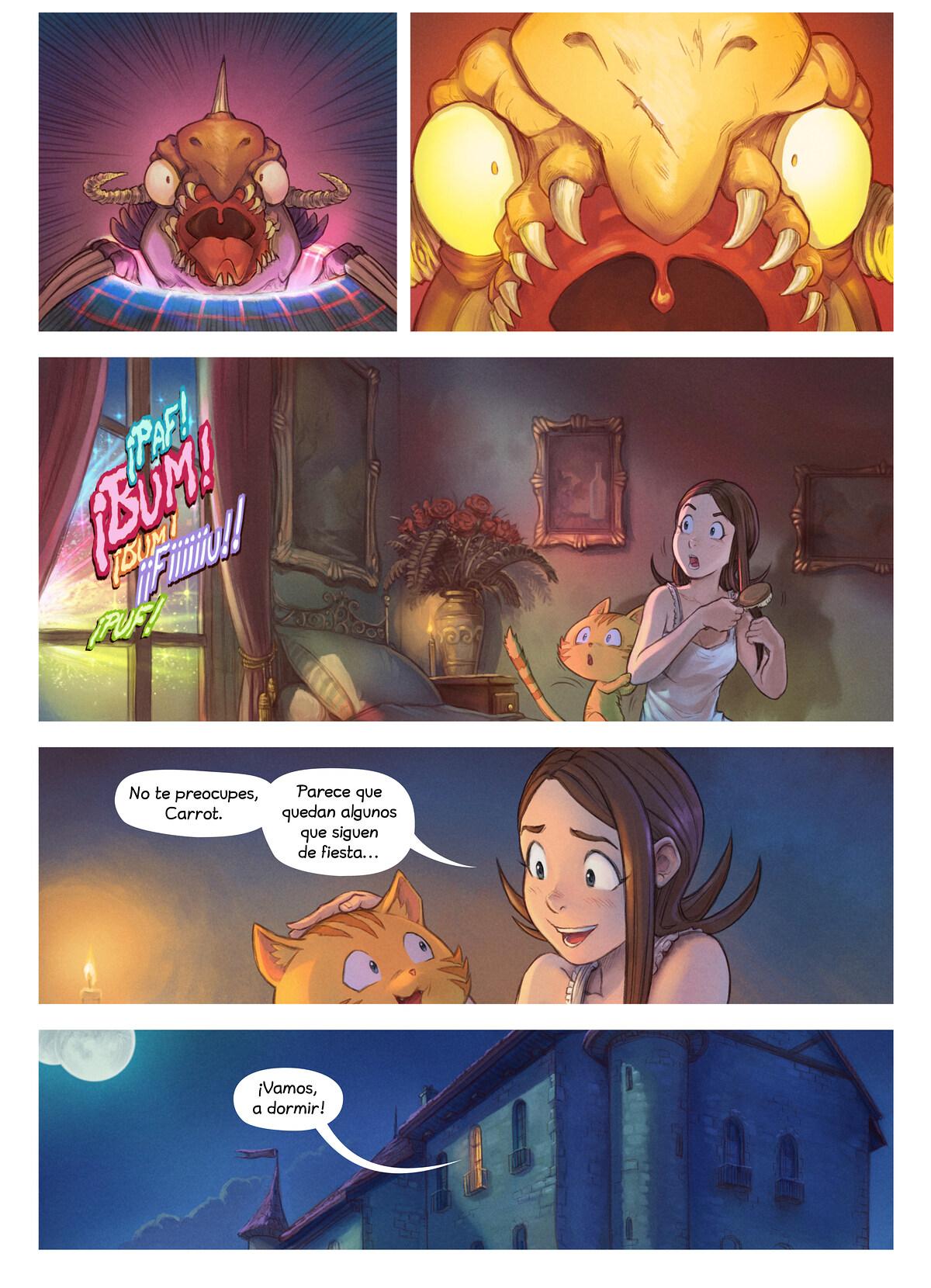 A webcomic page of Pepper&Carrot, episodio 29 [es], página 7