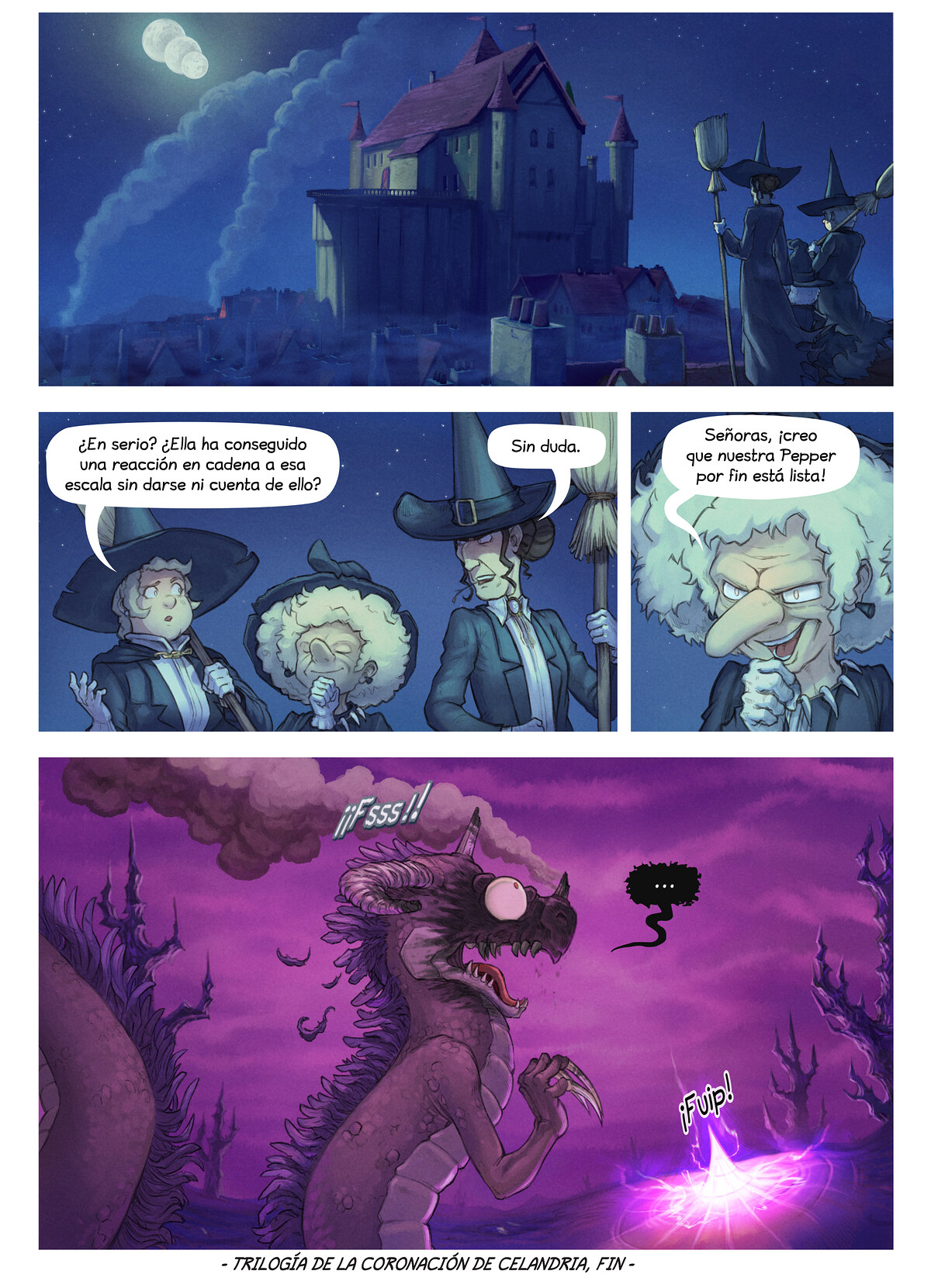 A webcomic page of Pepper&Carrot, episodio 29 [es], página 8