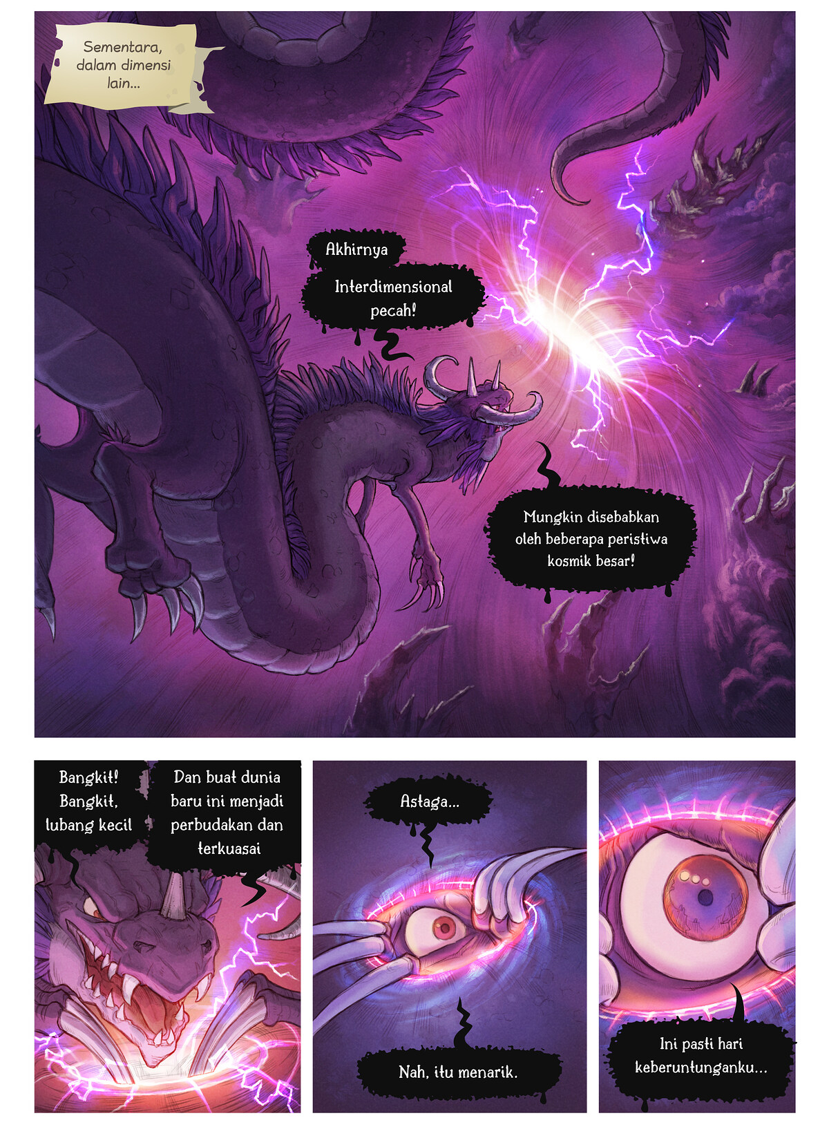 A webcomic page of Pepper&Carrot, episode 29 [id], halaman 1