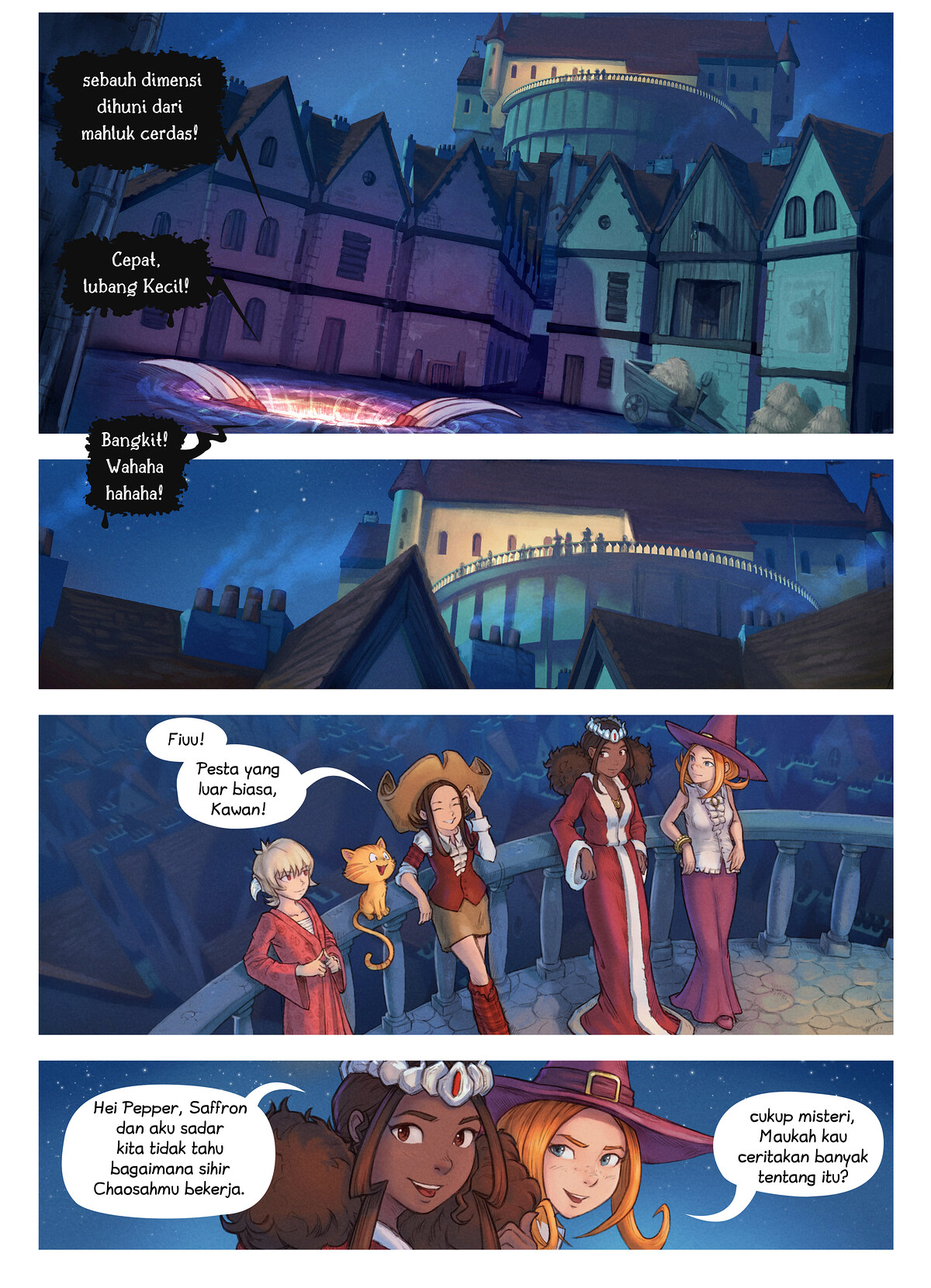 A webcomic page of Pepper&Carrot, episode 29 [id], halaman 2