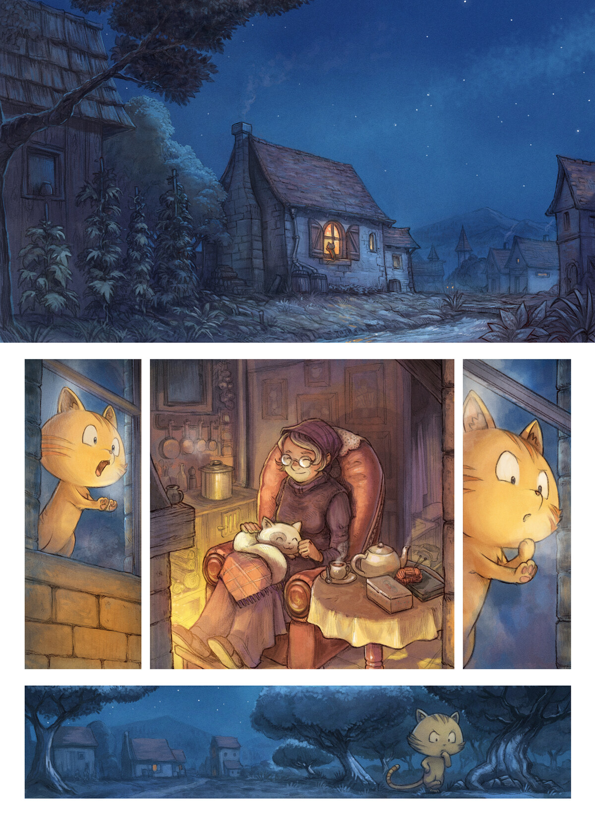 A webcomic page of Pepper&Carrot, epizód 30 [hu], oldal 1