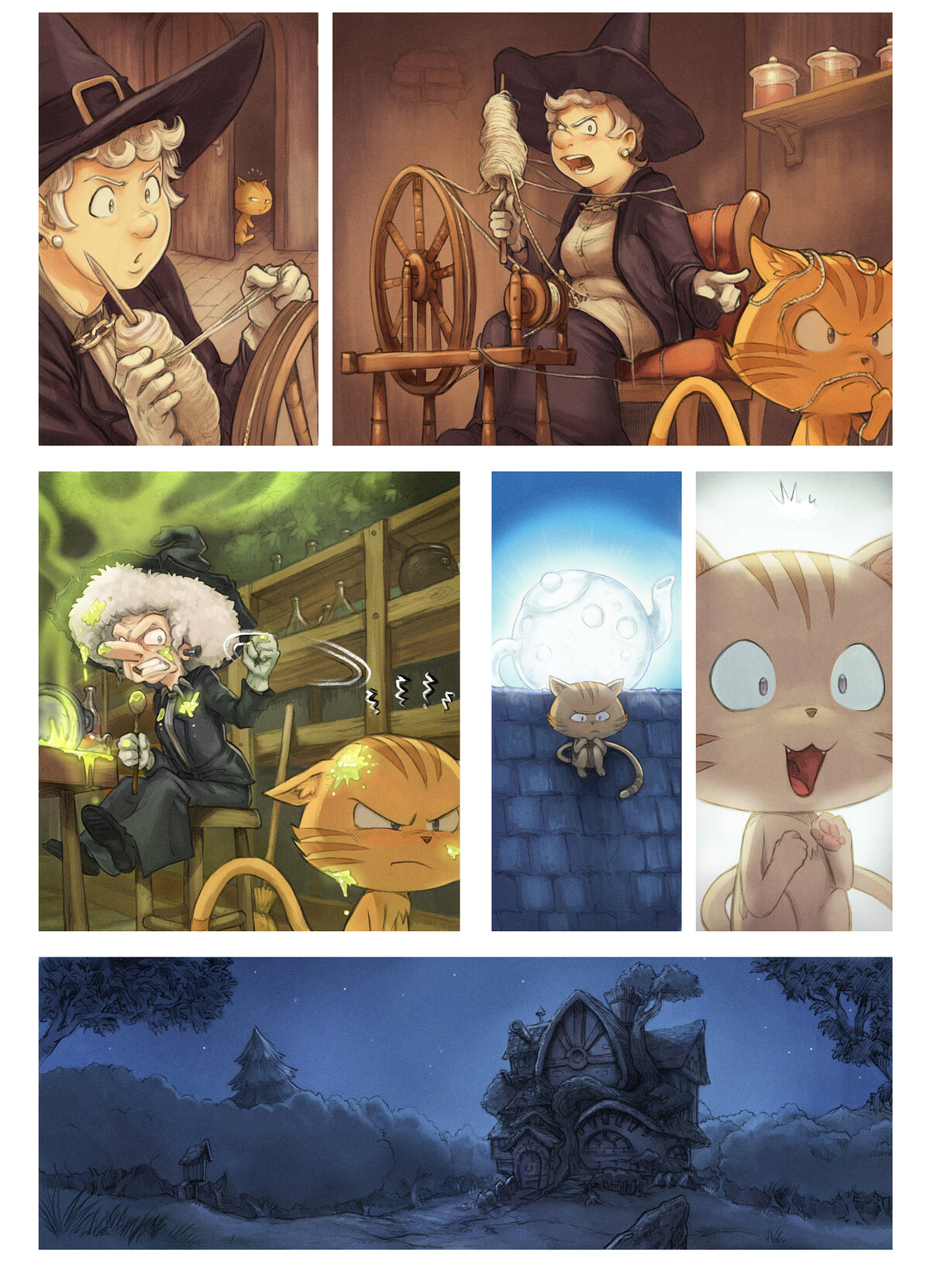 A webcomic page of Pepper&Carrot, episode 30 [no], side 4