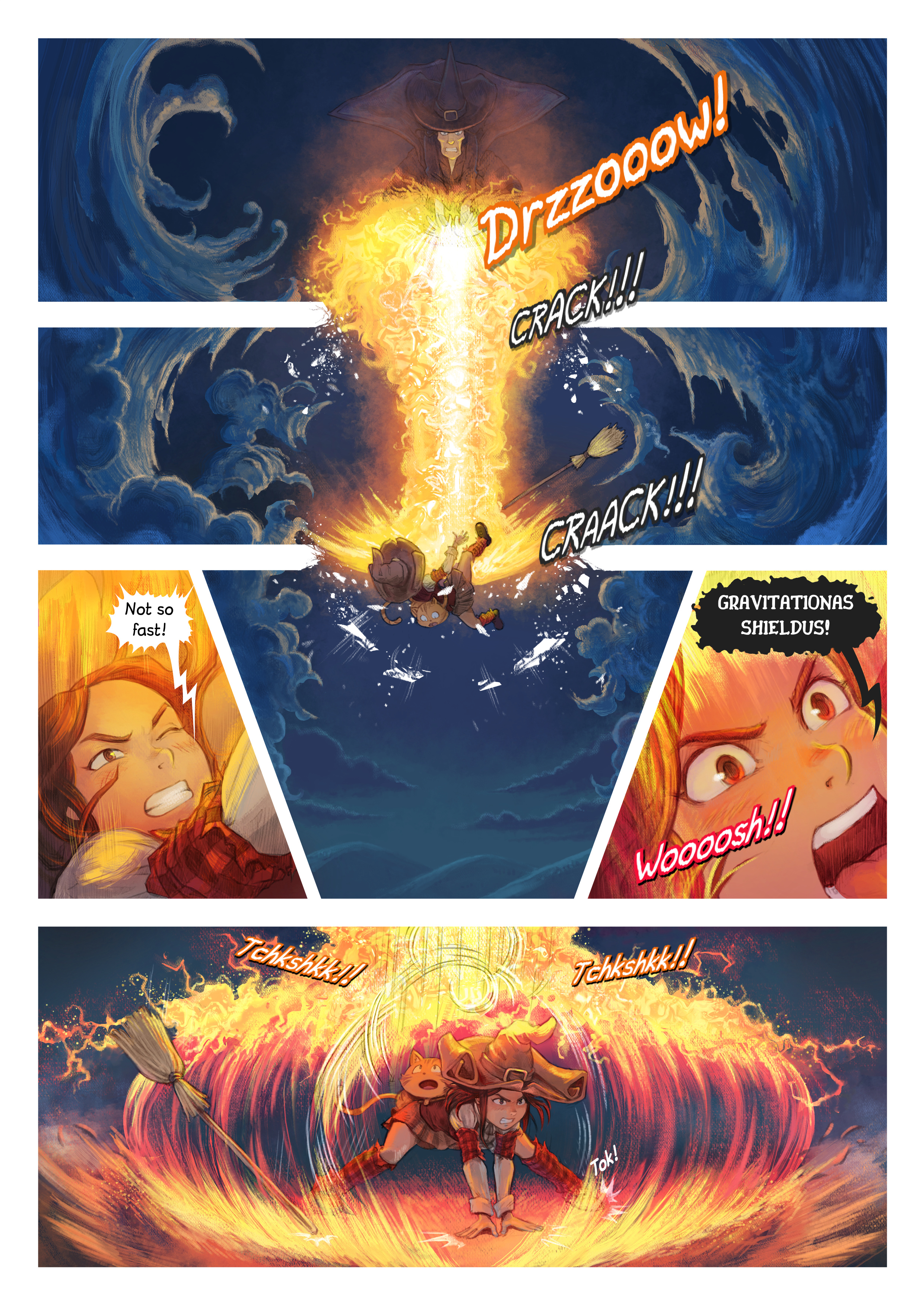 A webcomic page of Pepper&Carrot, episode 31 [en], page 2