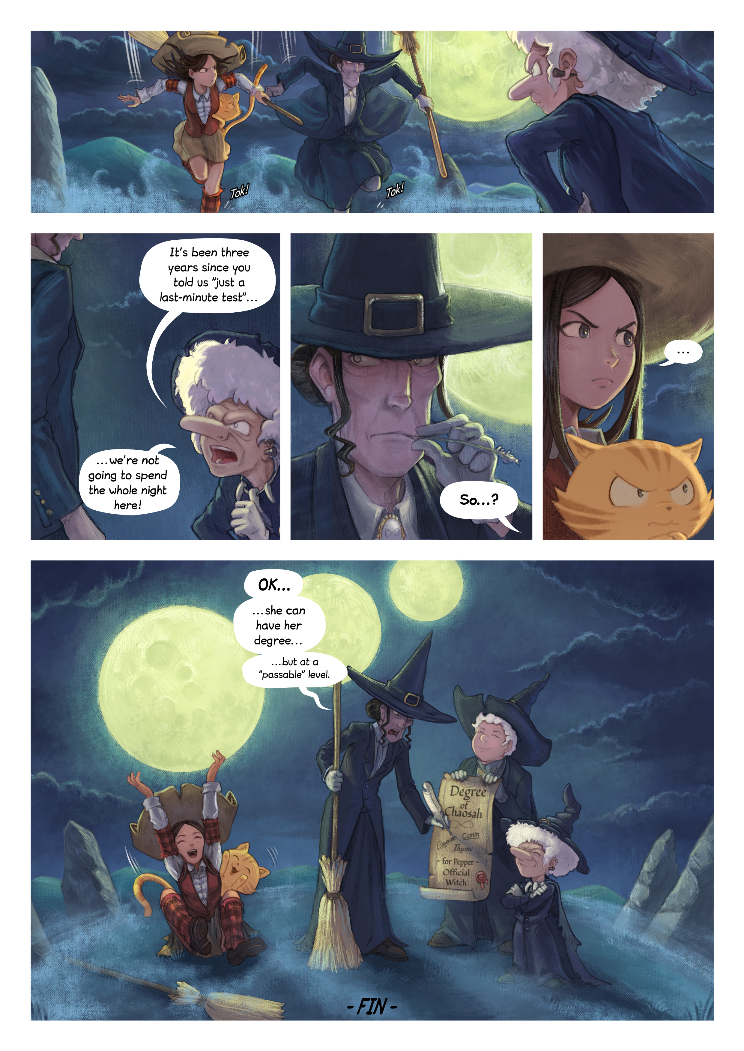 A webcomic page of Pepper&Carrot, episode 31 [en], page 7