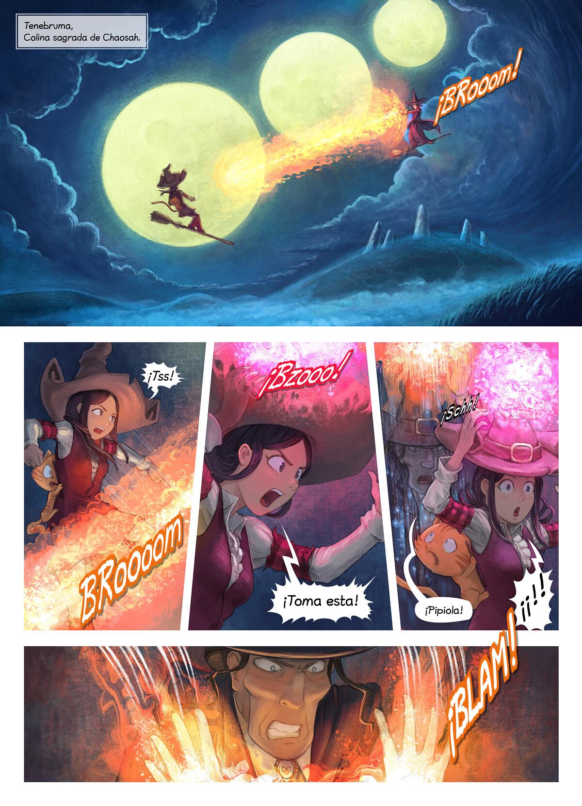 A webcomic page of Pepper&Carrot, episodio 31 [es], página 1