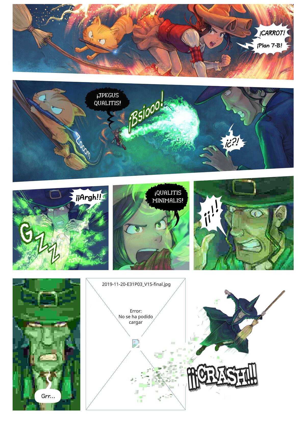 A webcomic page of Pepper&Carrot, episodio 31 [es], página 3