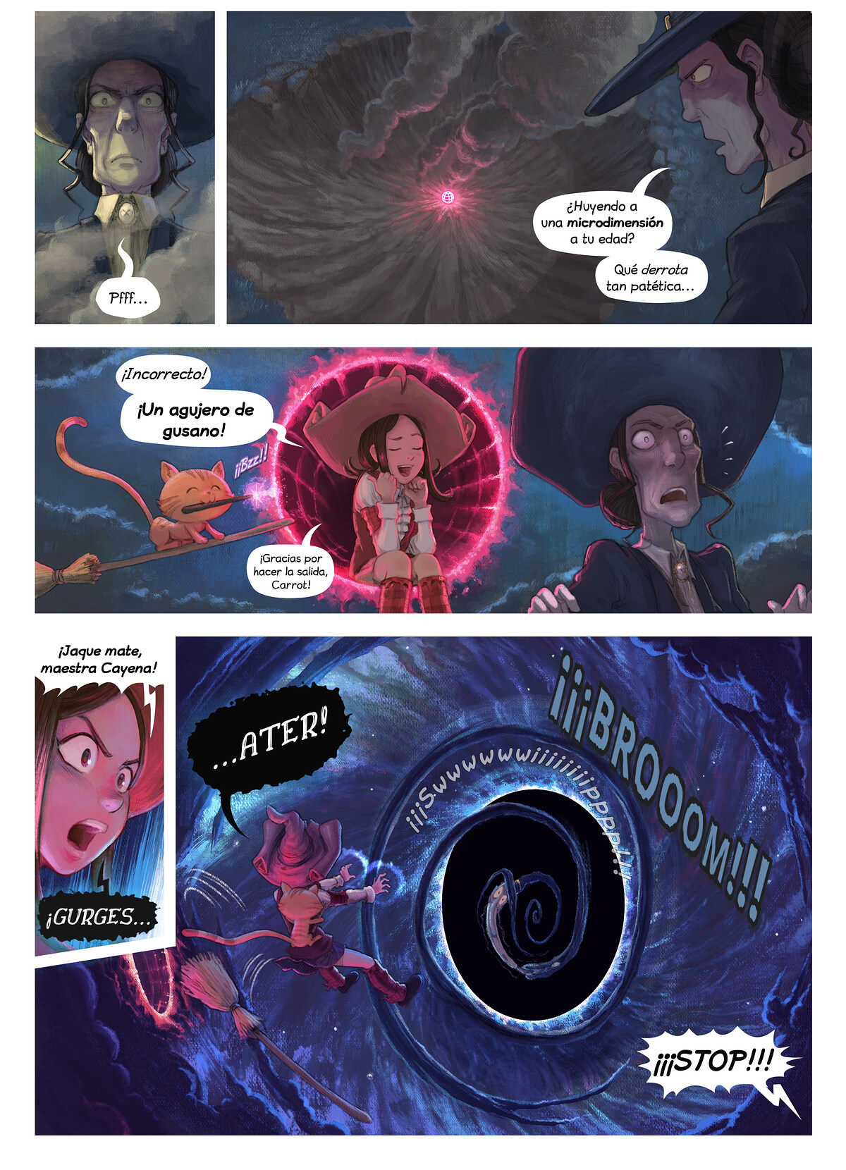A webcomic page of Pepper&Carrot, episodio 31 [es], página 5