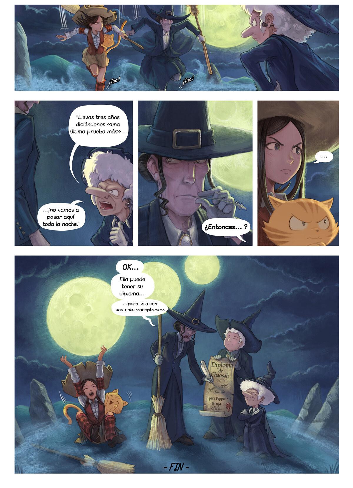 A webcomic page of Pepper&Carrot, episodio 31 [es], página 7