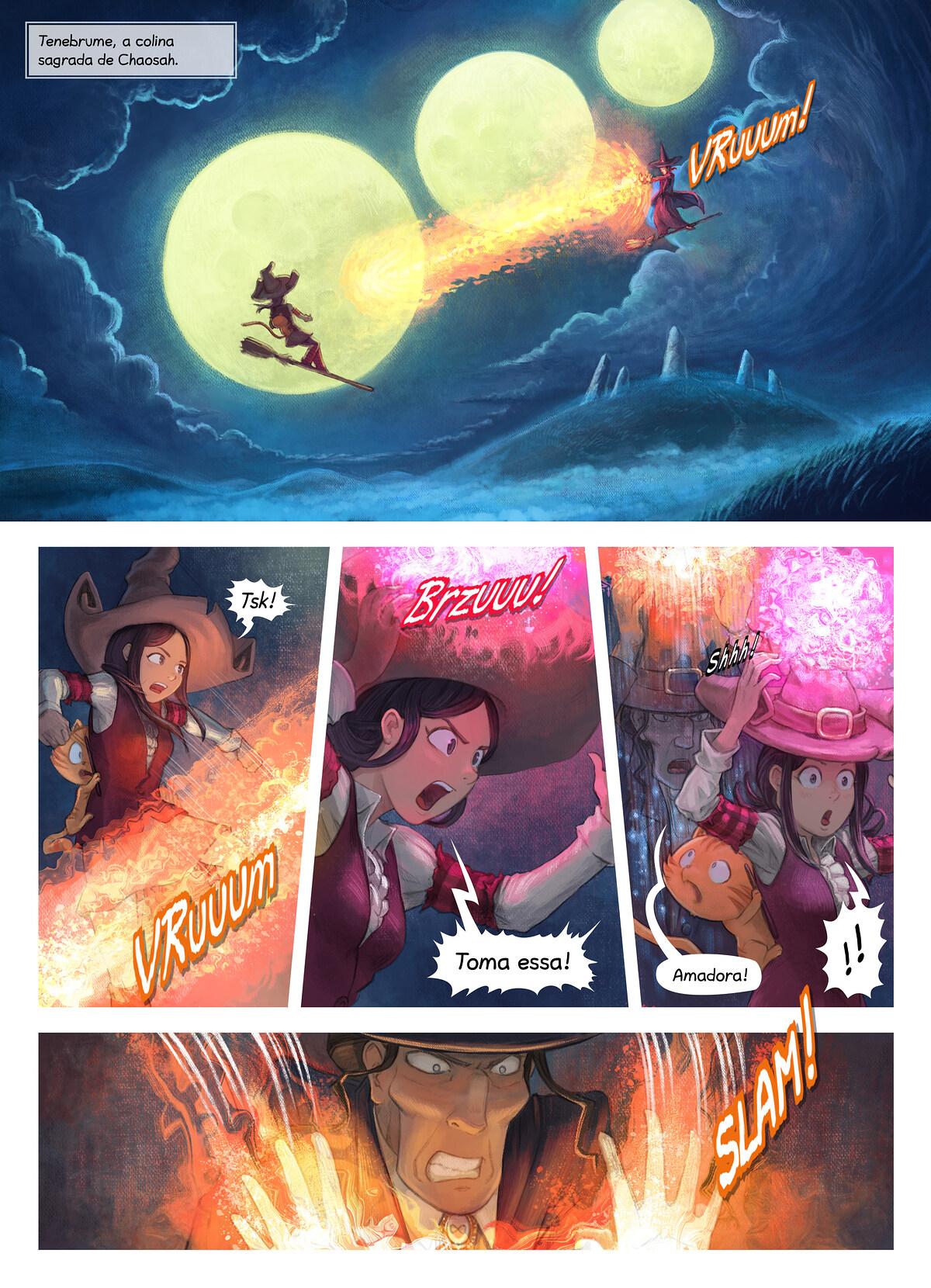 A webcomic page of Pepper&Carrot, episódio 31 [pt], página 1