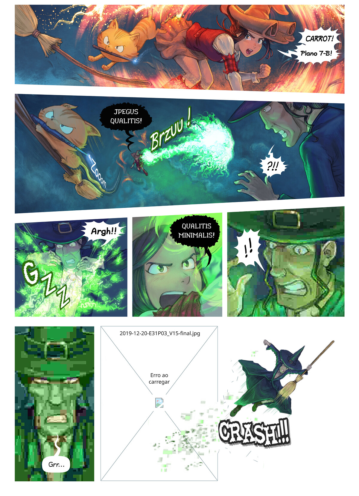 A webcomic page of Pepper&Carrot, episódio 31 [pt], página 3