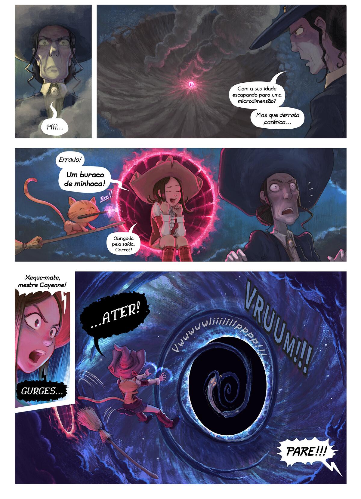 A webcomic page of Pepper&Carrot, episódio 31 [pt], página 5
