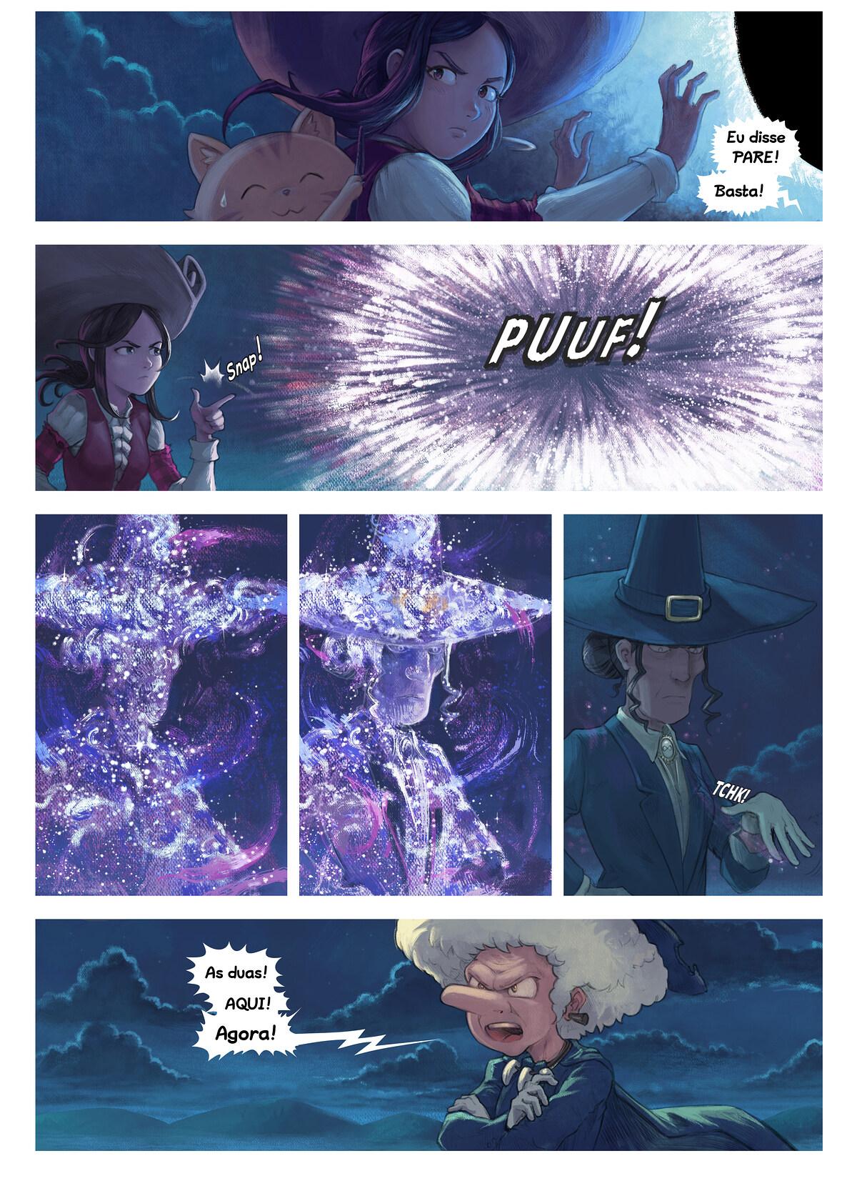 A webcomic page of Pepper&Carrot, episódio 31 [pt], página 6