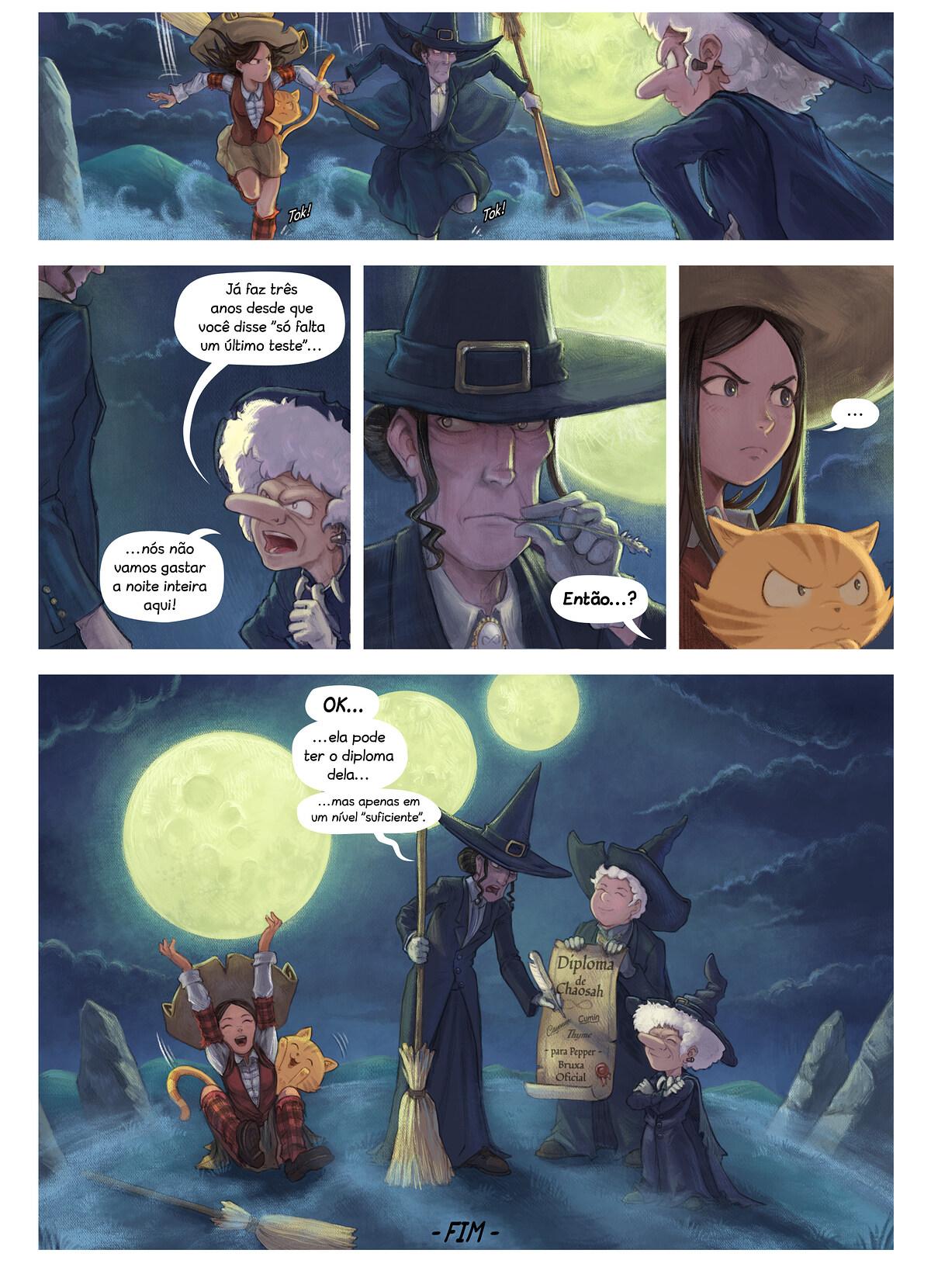 A webcomic page of Pepper&Carrot, episódio 31 [pt], página 7