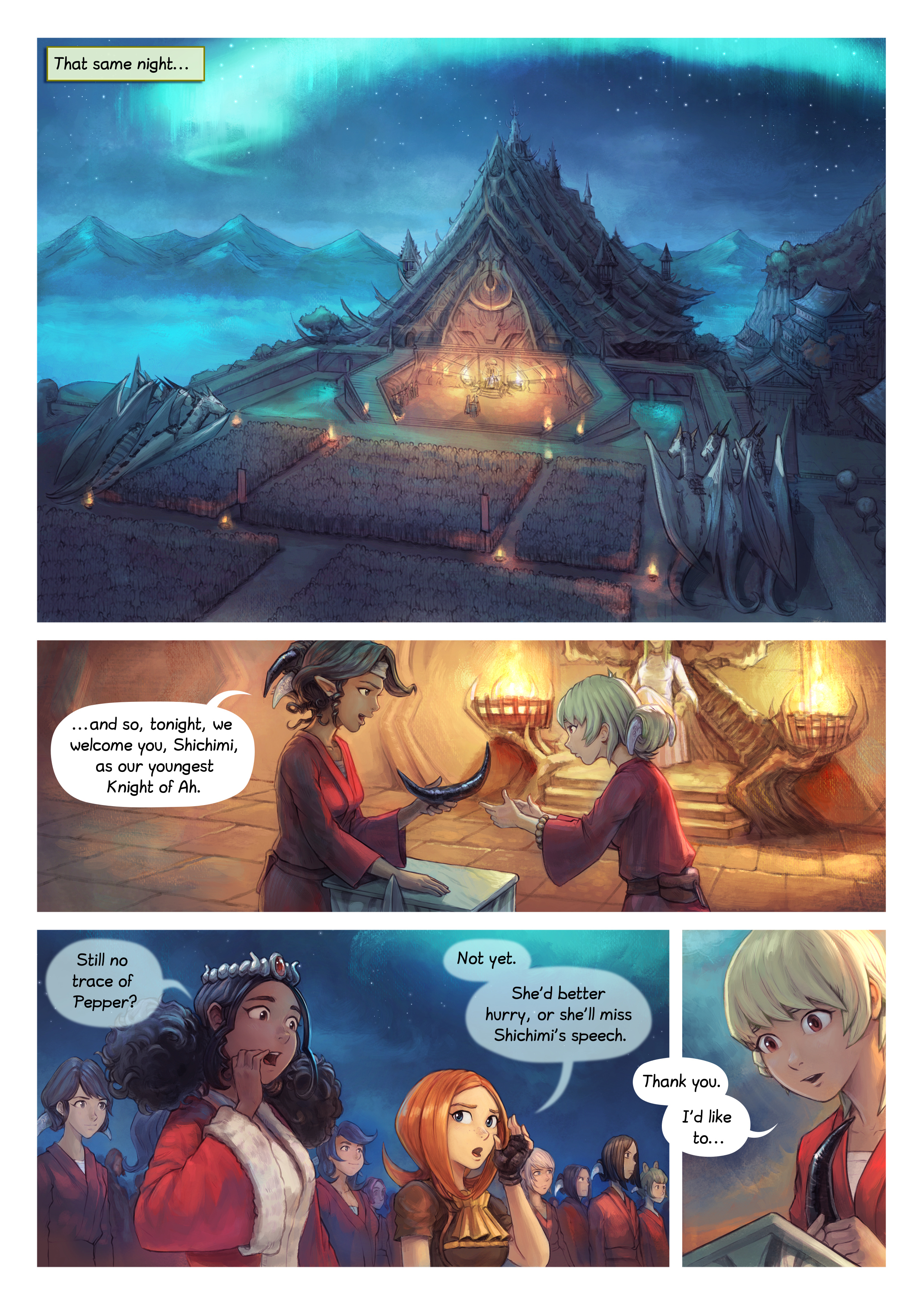 Episode 34: The Knighting of Shichimi, Page 1