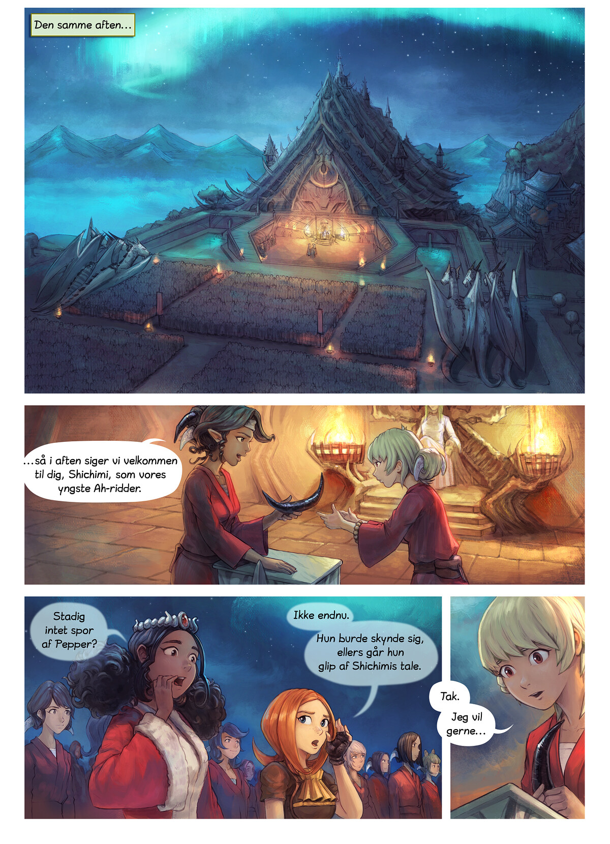 Episode 34: Shichimi slås til ridder, Page 1