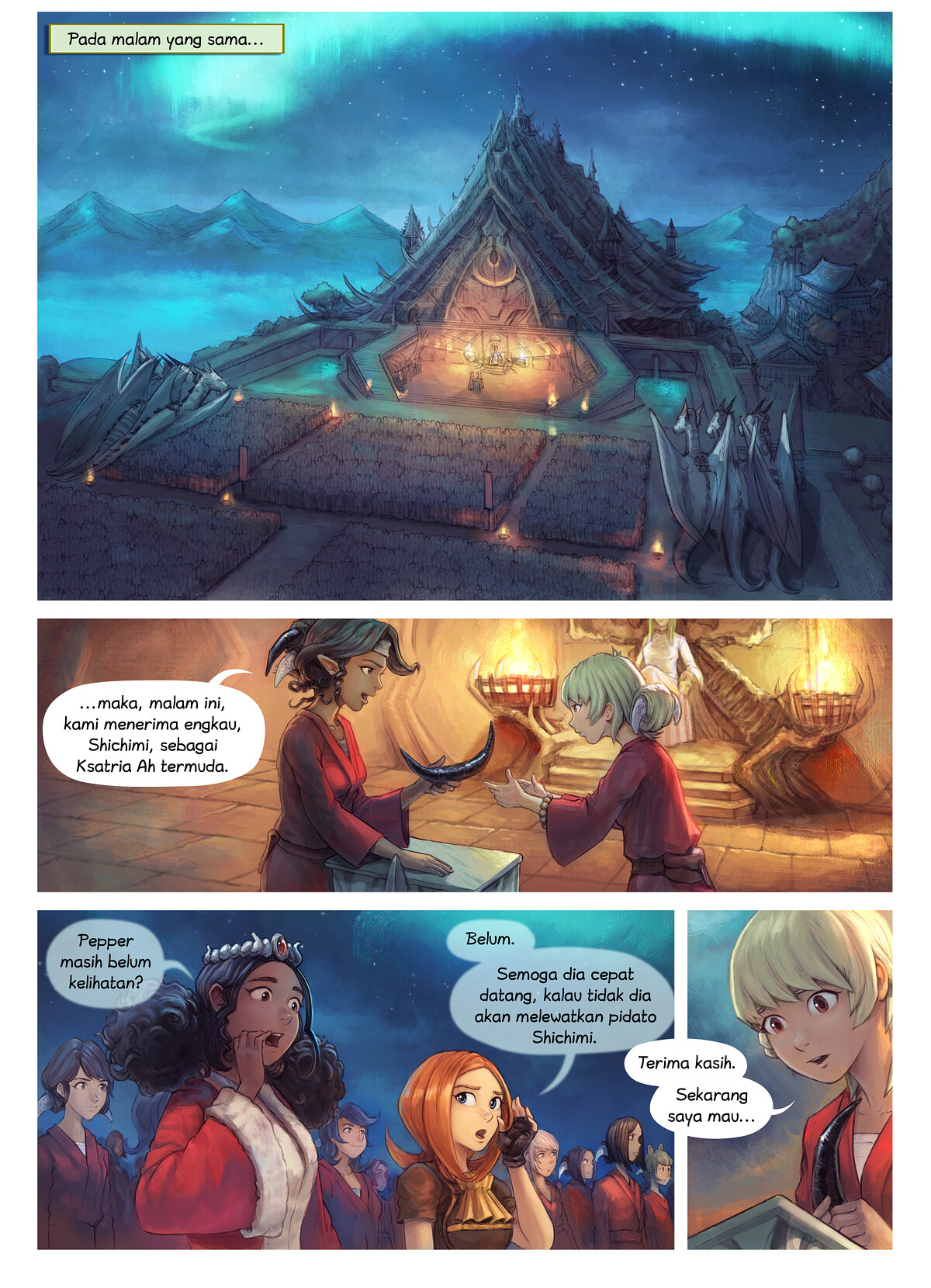 Episode 34: Pemberian Gelar Ksatria Shichimi, Page 1